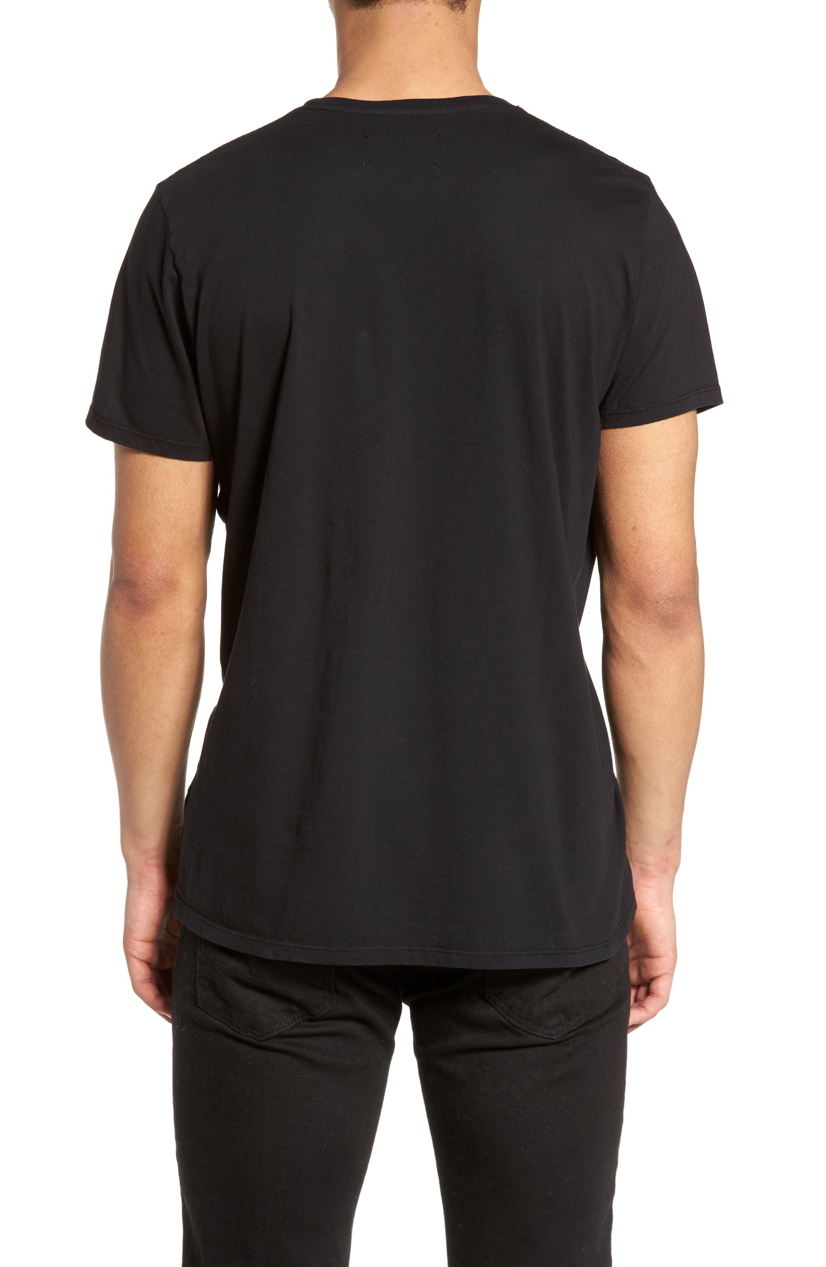 Outline Graphic T-Shirt,                             Alternate thumbnail 2, color,                             Black