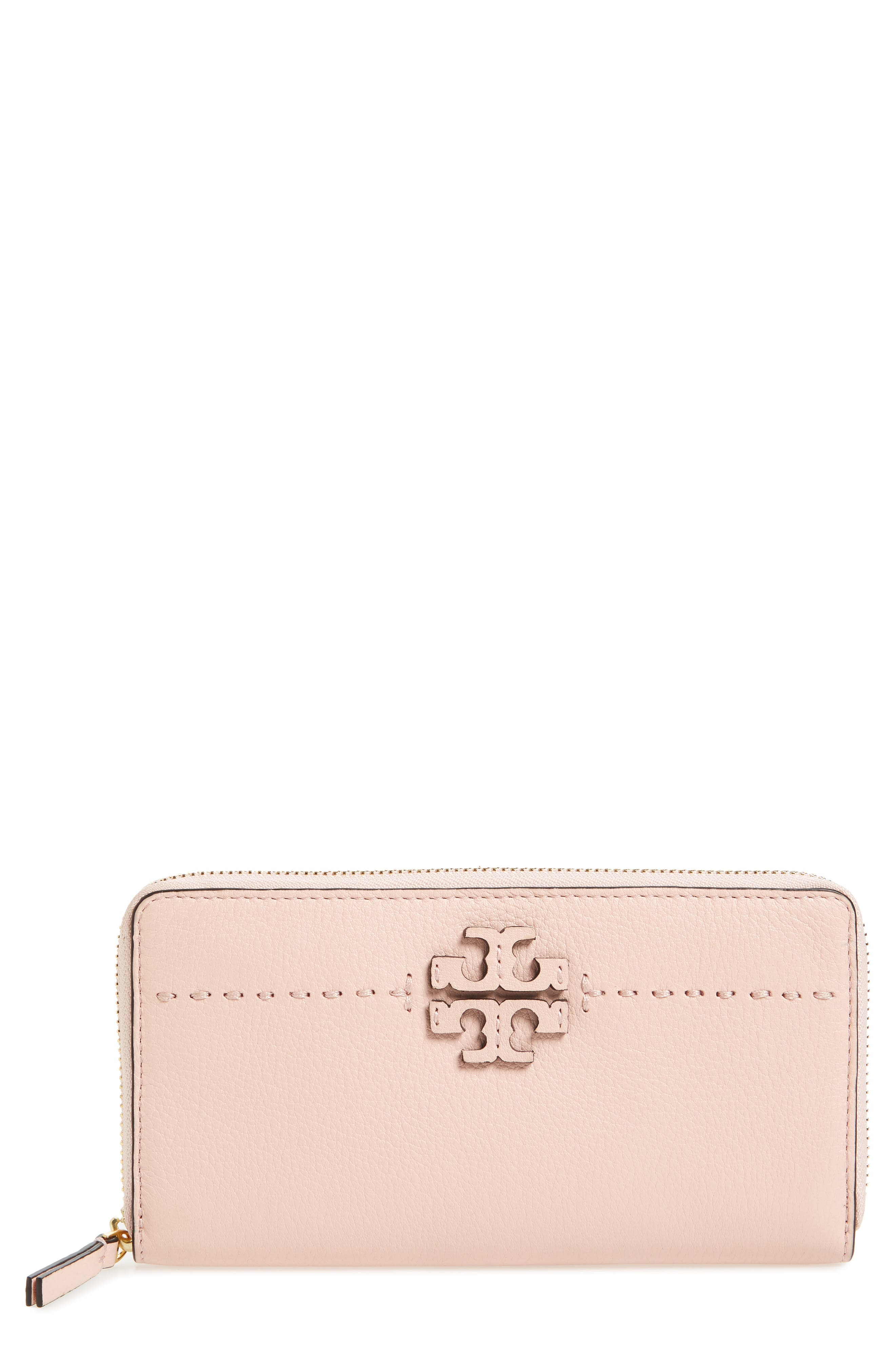 Main Image - Tory Burch McGraw Leather Continental Zip Wallet