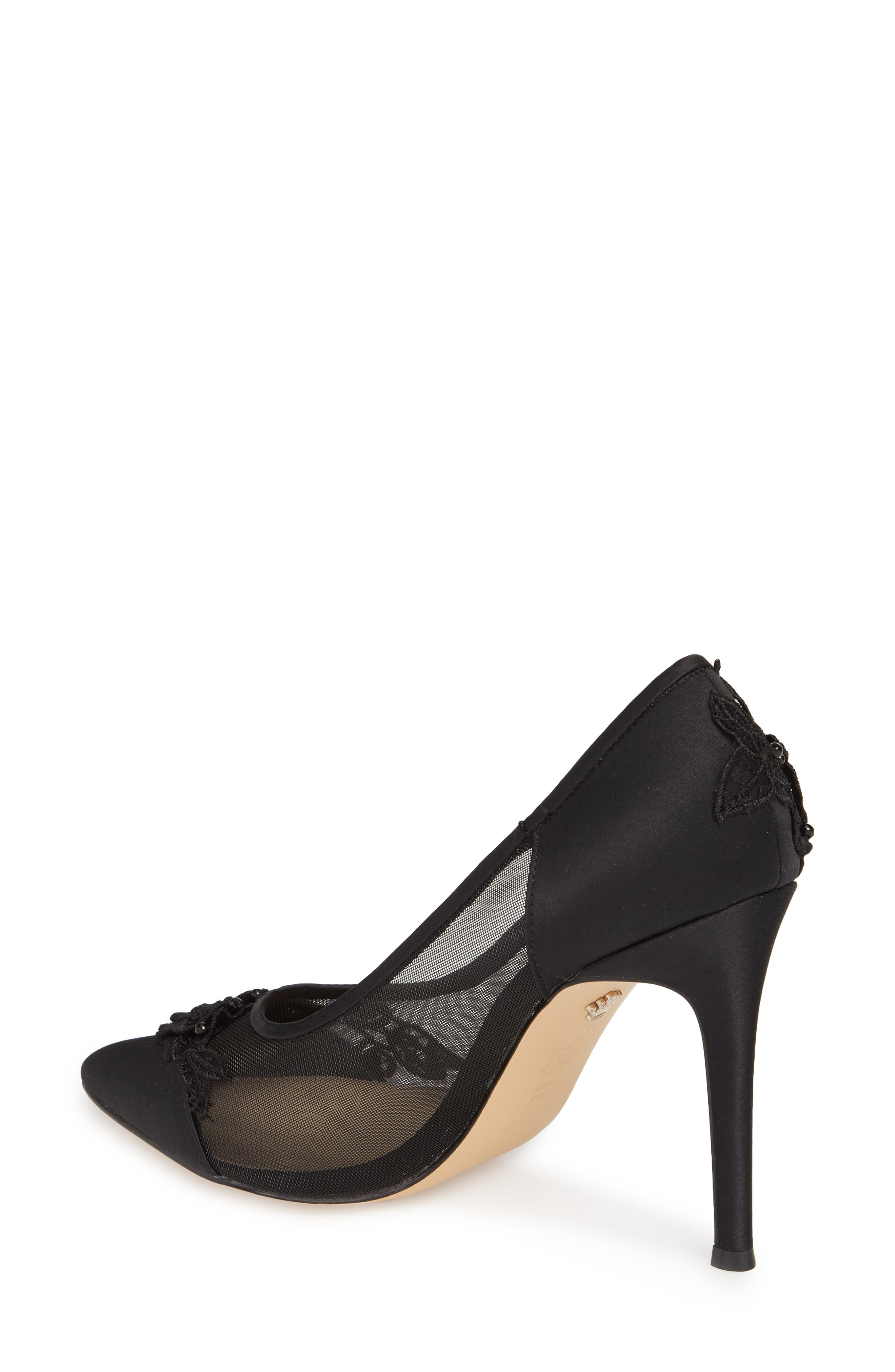Donela Pump,                             Alternate thumbnail 2, color,                             Black Satin