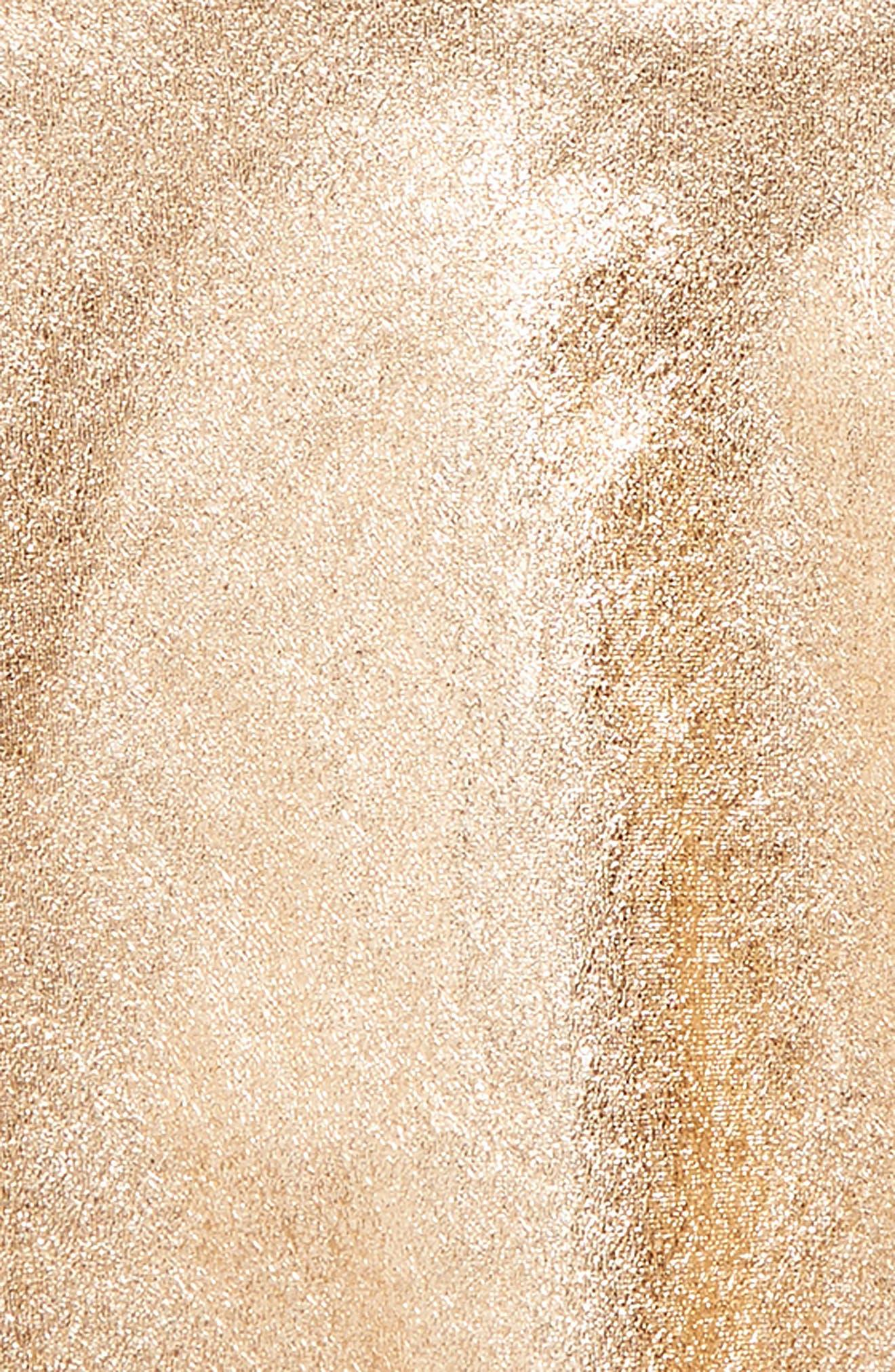 metallic skirt,                             Alternate thumbnail 2, color,                             Rosegold Metallic