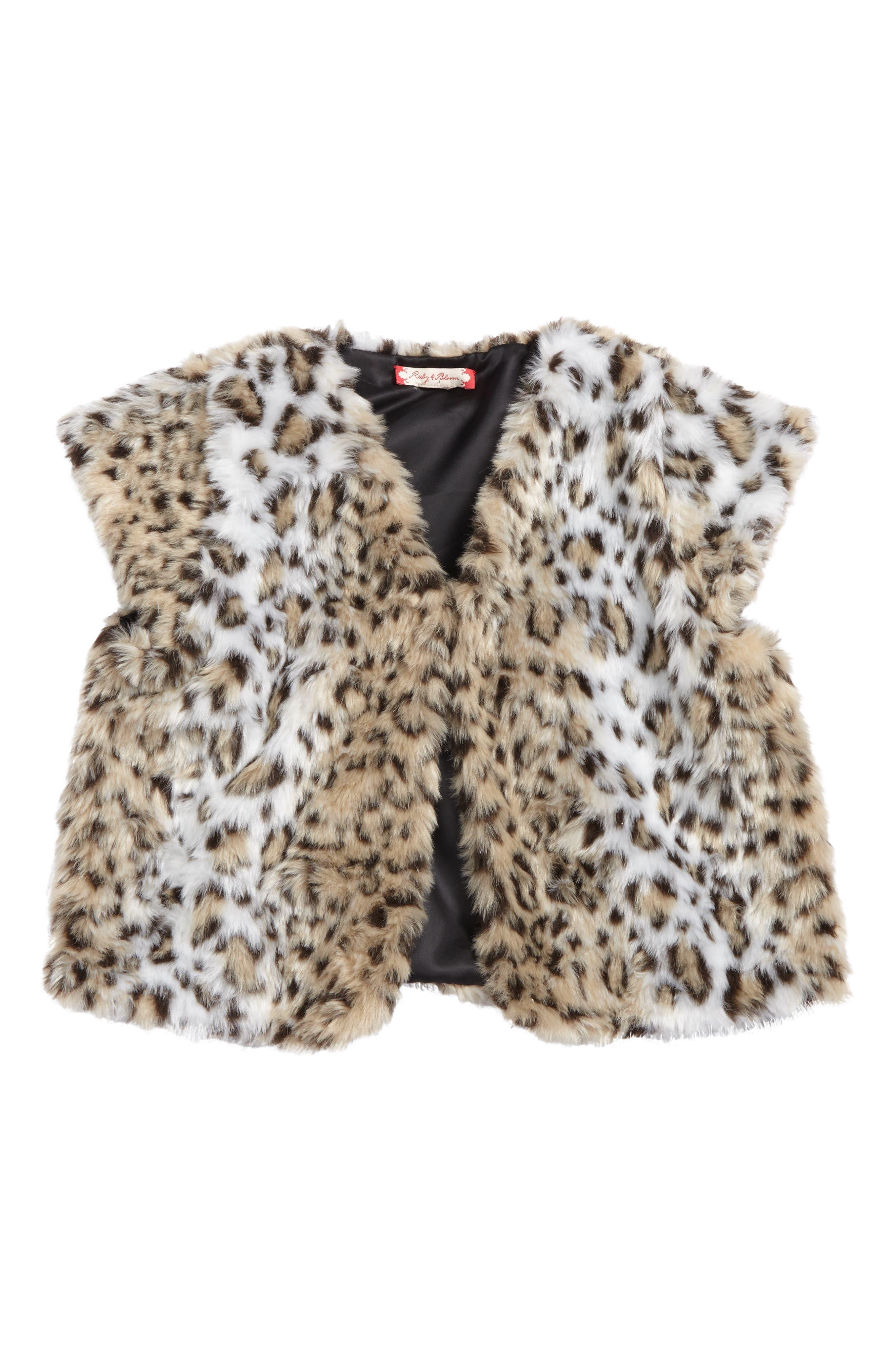 Main Image - Ruby & Bloom Faux Fur Capelet (Big Girls)