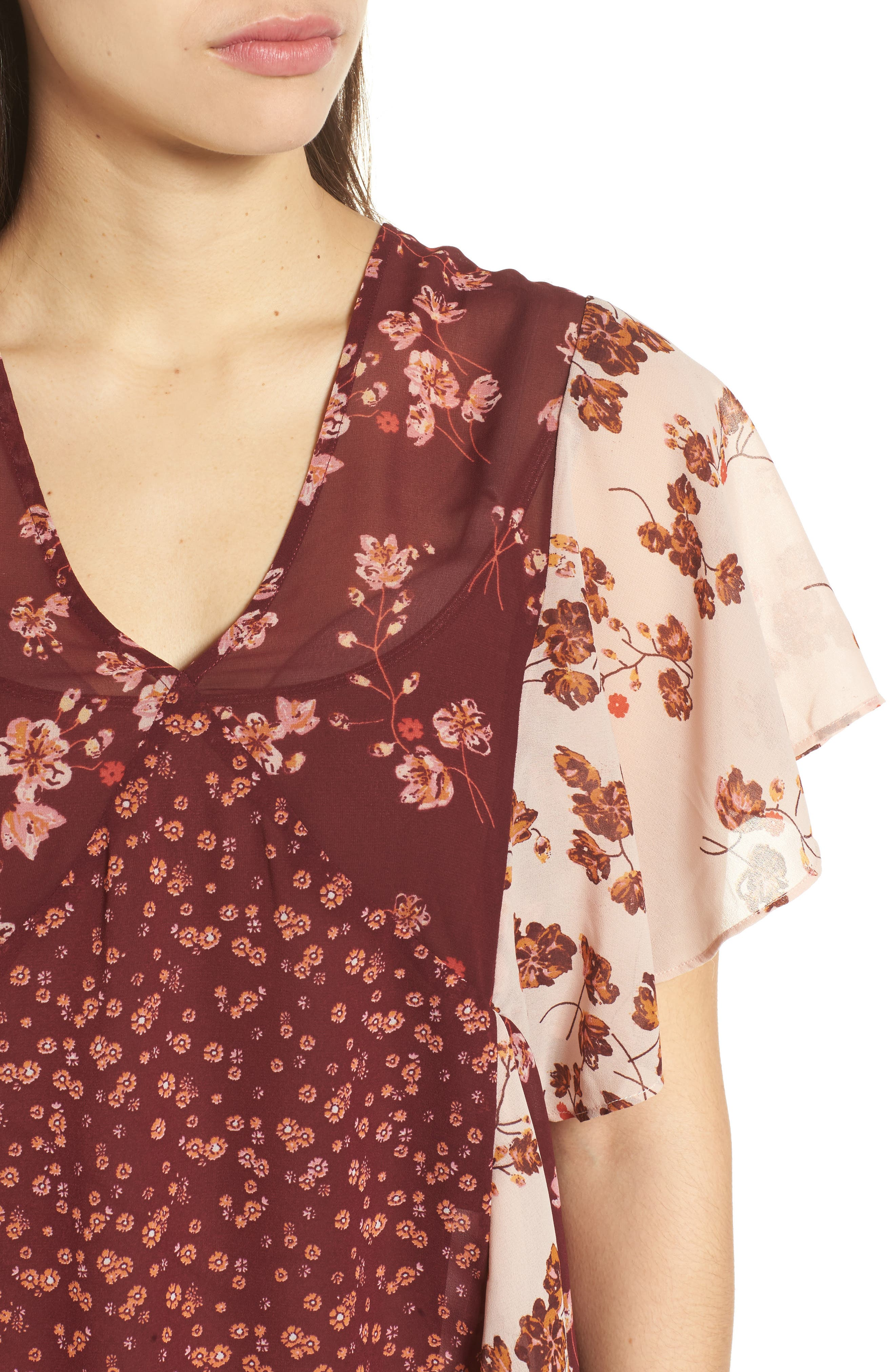 Alternate Image 4  - Lucky Brand Mixed Floral PrintTop