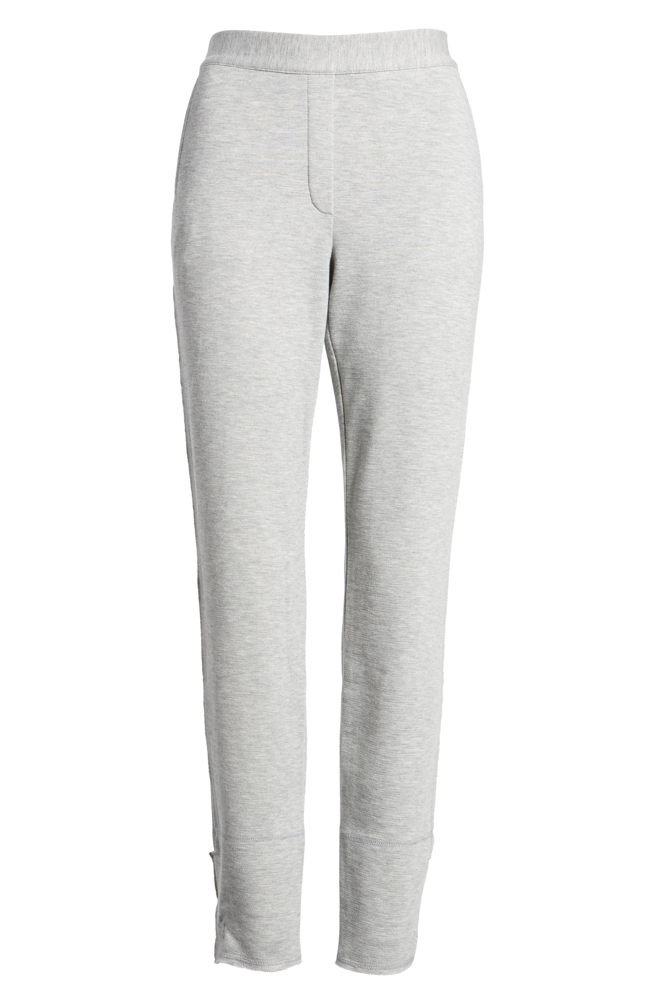 Slim Knit Pants,                             Alternate thumbnail 6, color,                             Heather Grey