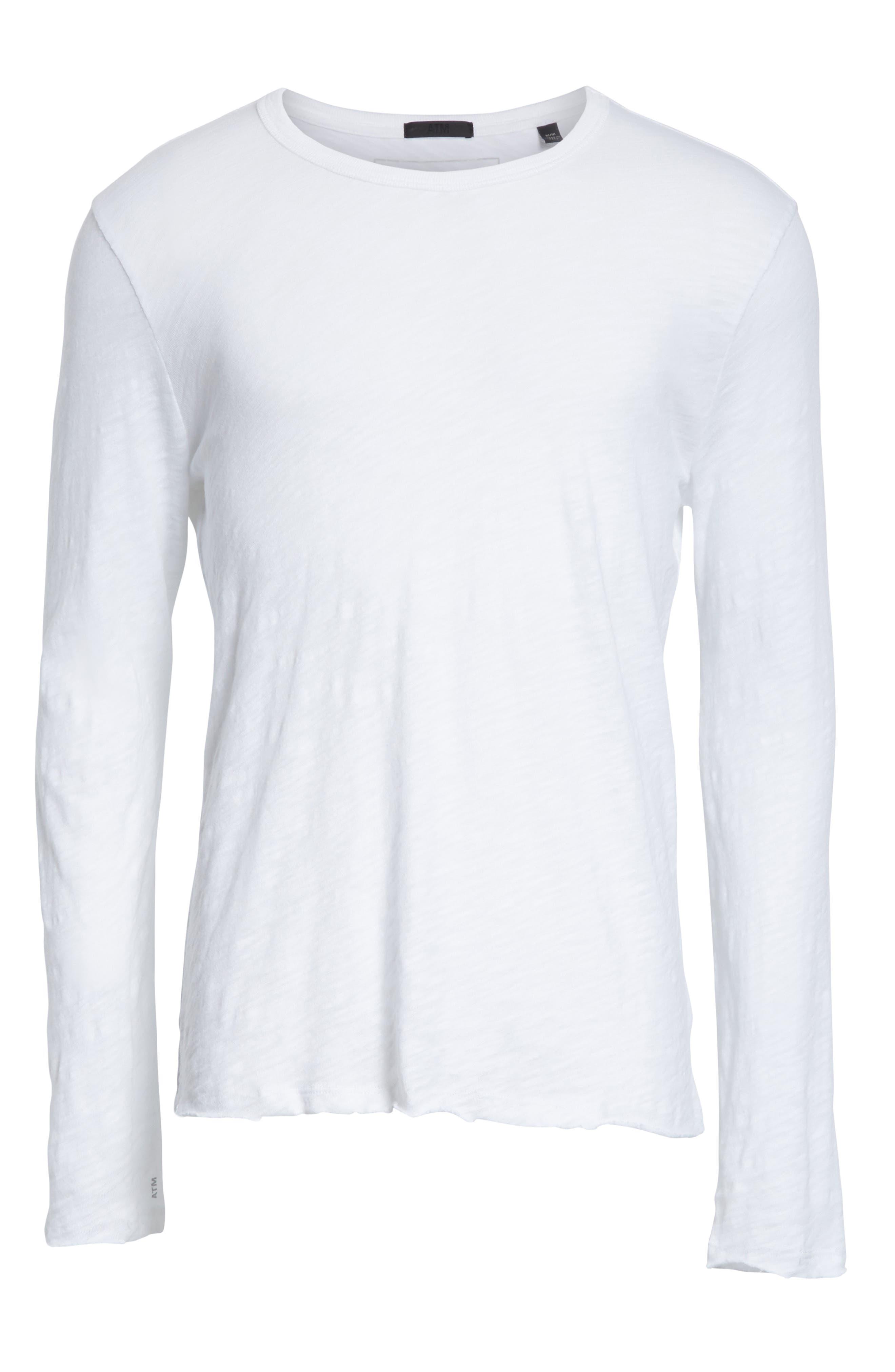 Destroyed Long Sleeve T-Shirt,                             Alternate thumbnail 6, color,                             White