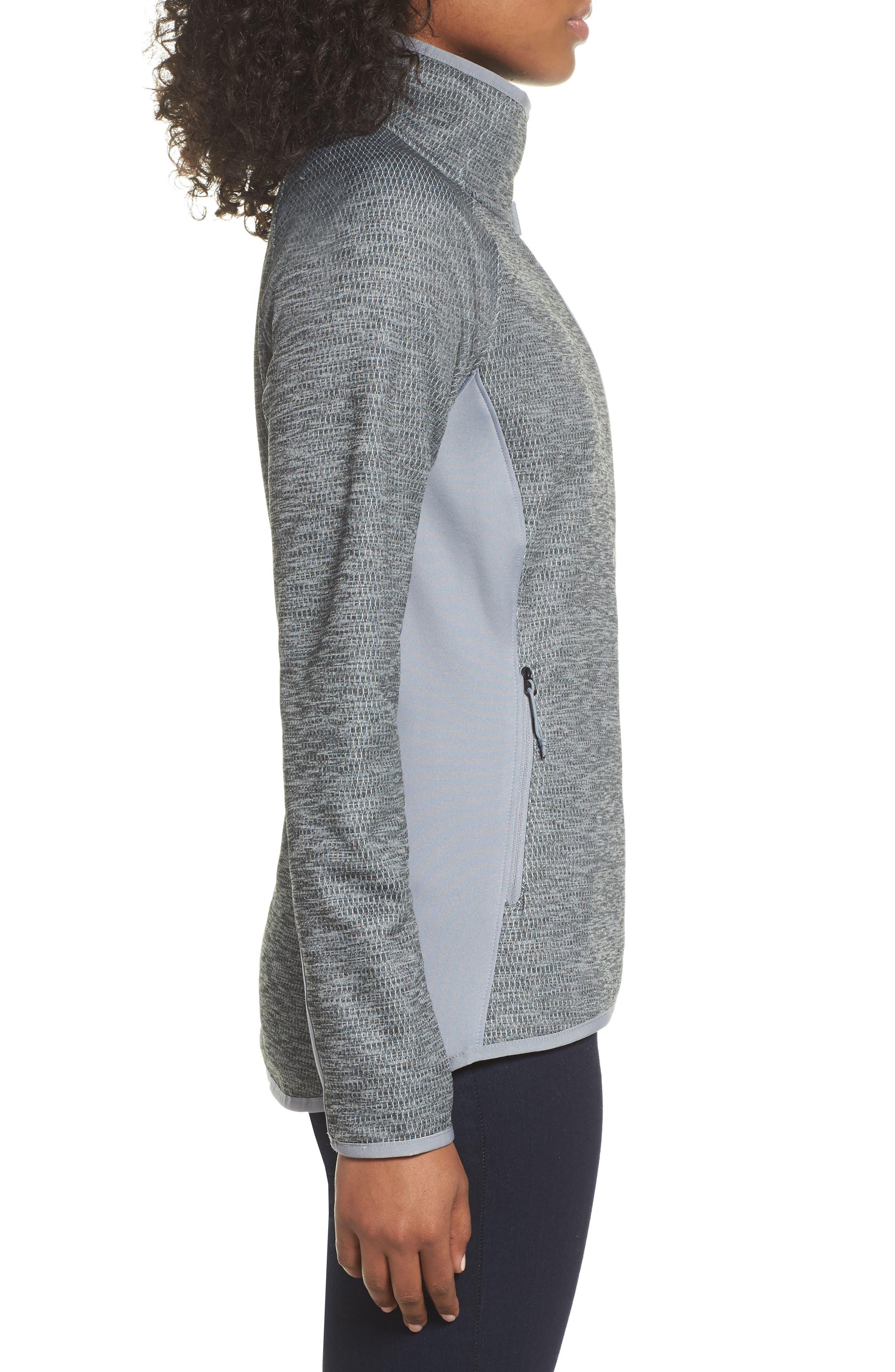 Arcata Zip Jacket,                             Alternate thumbnail 3, color,                             Tnf Mid Grey Heather/ Black
