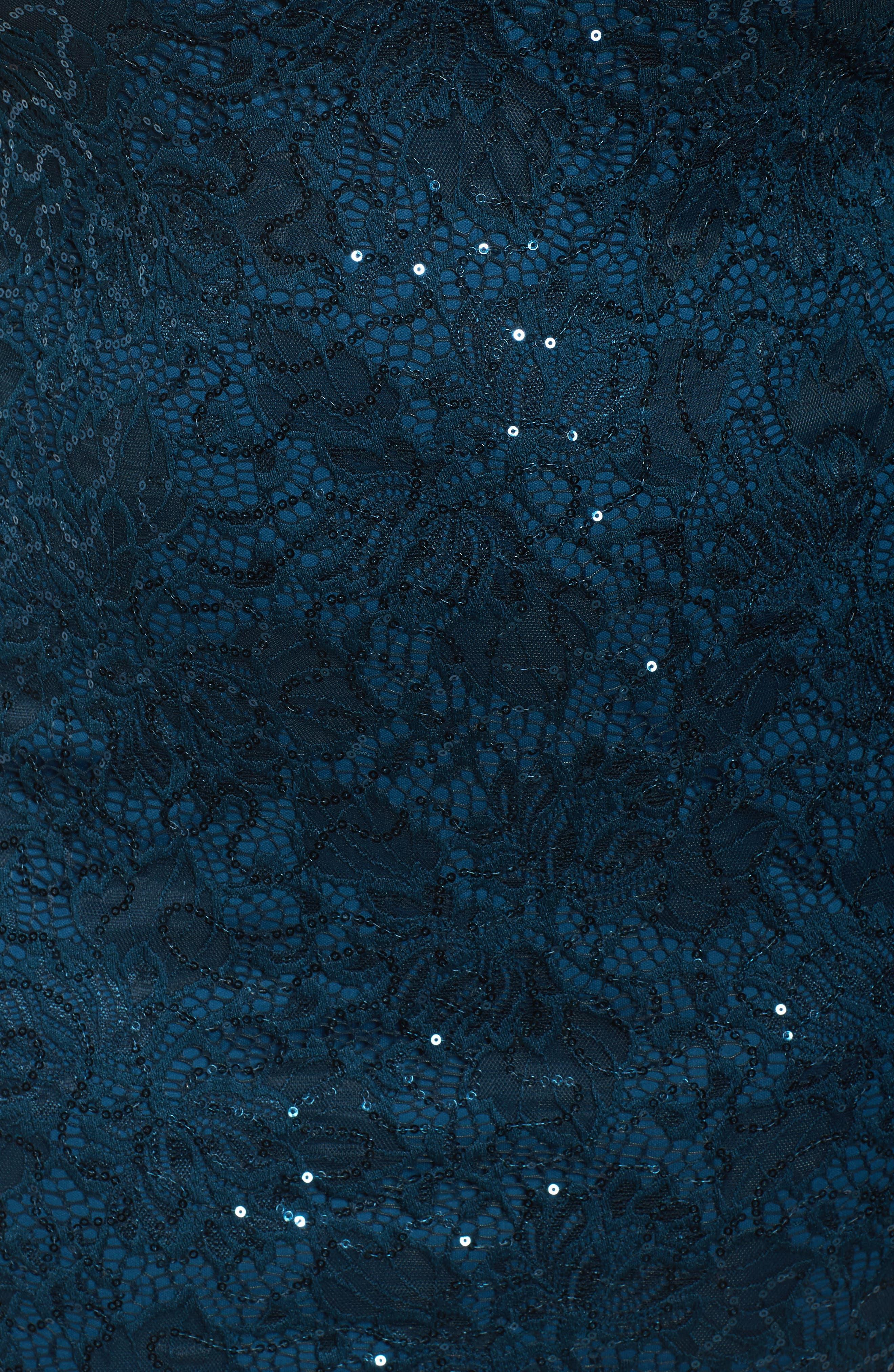 Alternate Image 5  - Marina Choker Neck Lace Sheath Dress (Plus Size)