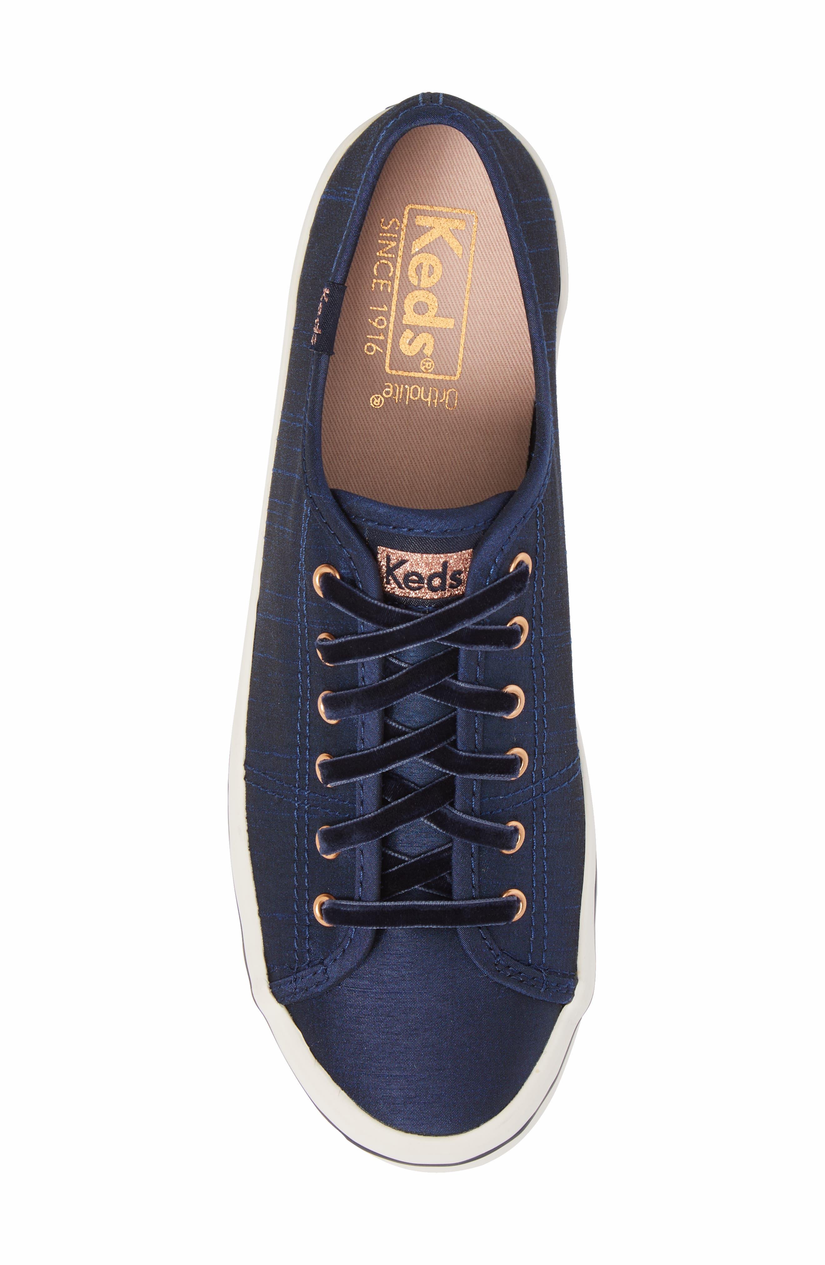 Kickstart Sneaker,                             Alternate thumbnail 5, color,                             Navy Satin