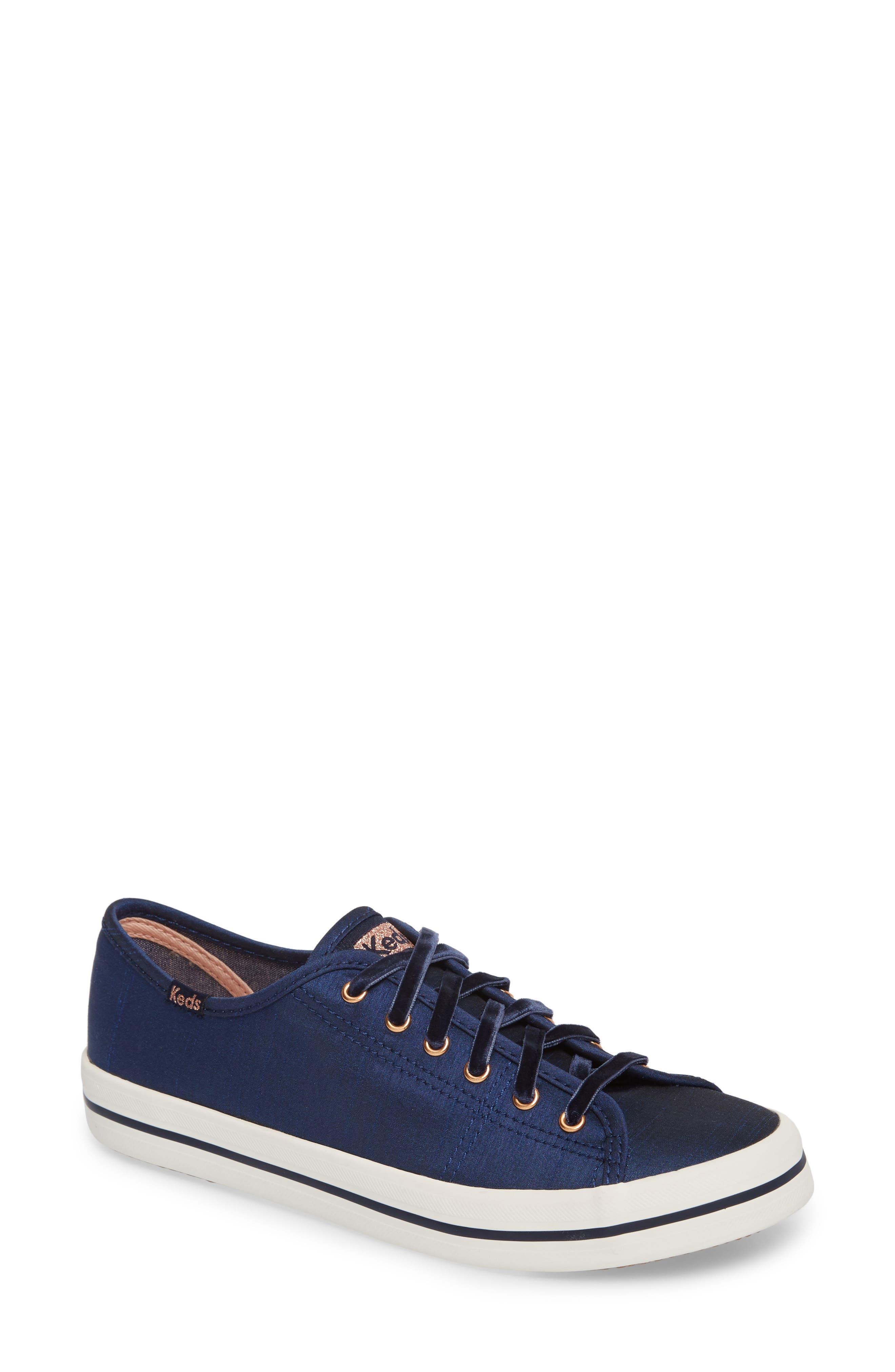 Kickstart Sneaker,                         Main,                         color, Navy Satin