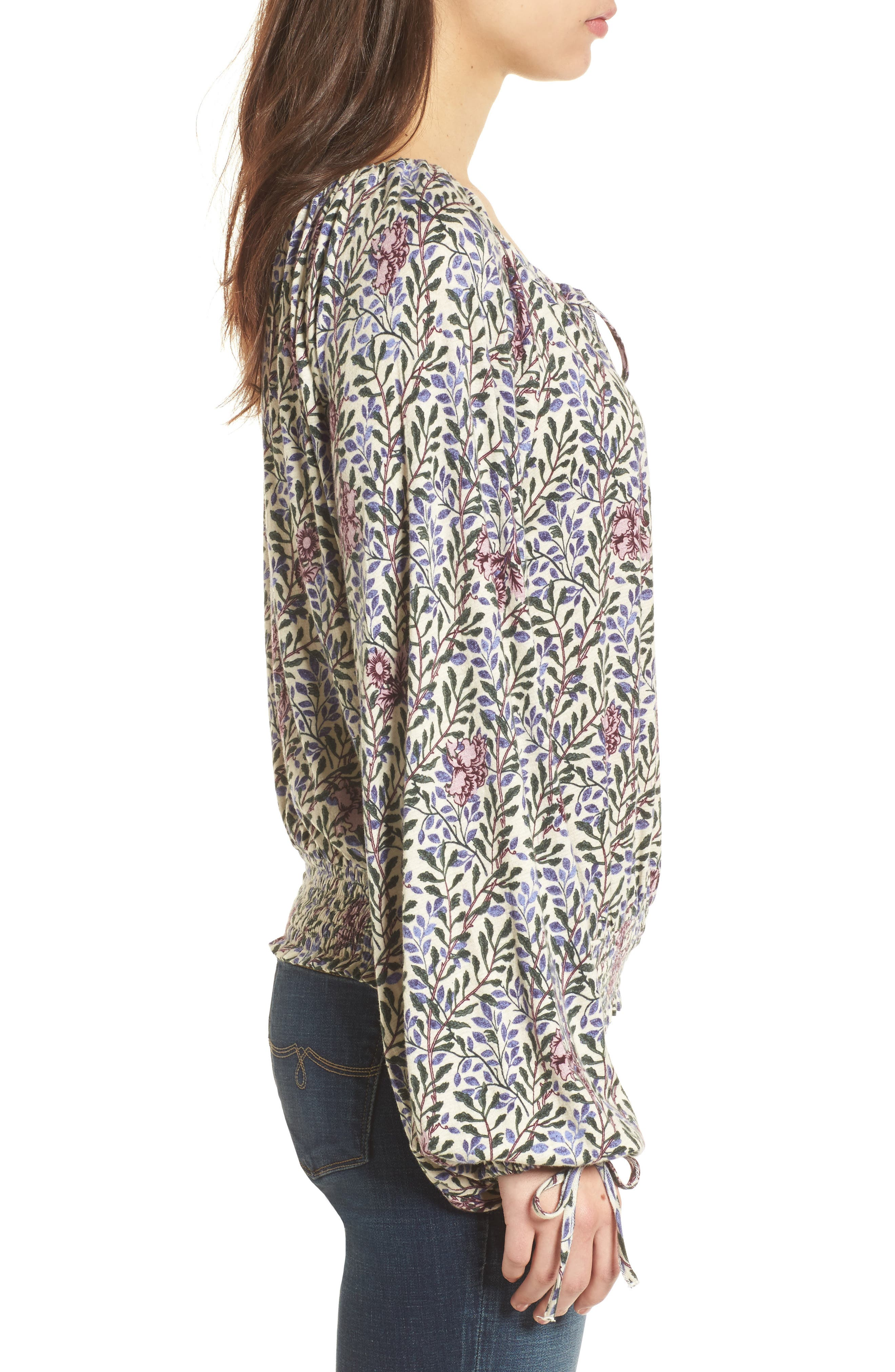 Alternate Image 3  - Lucky Brand Floral Peasant Top