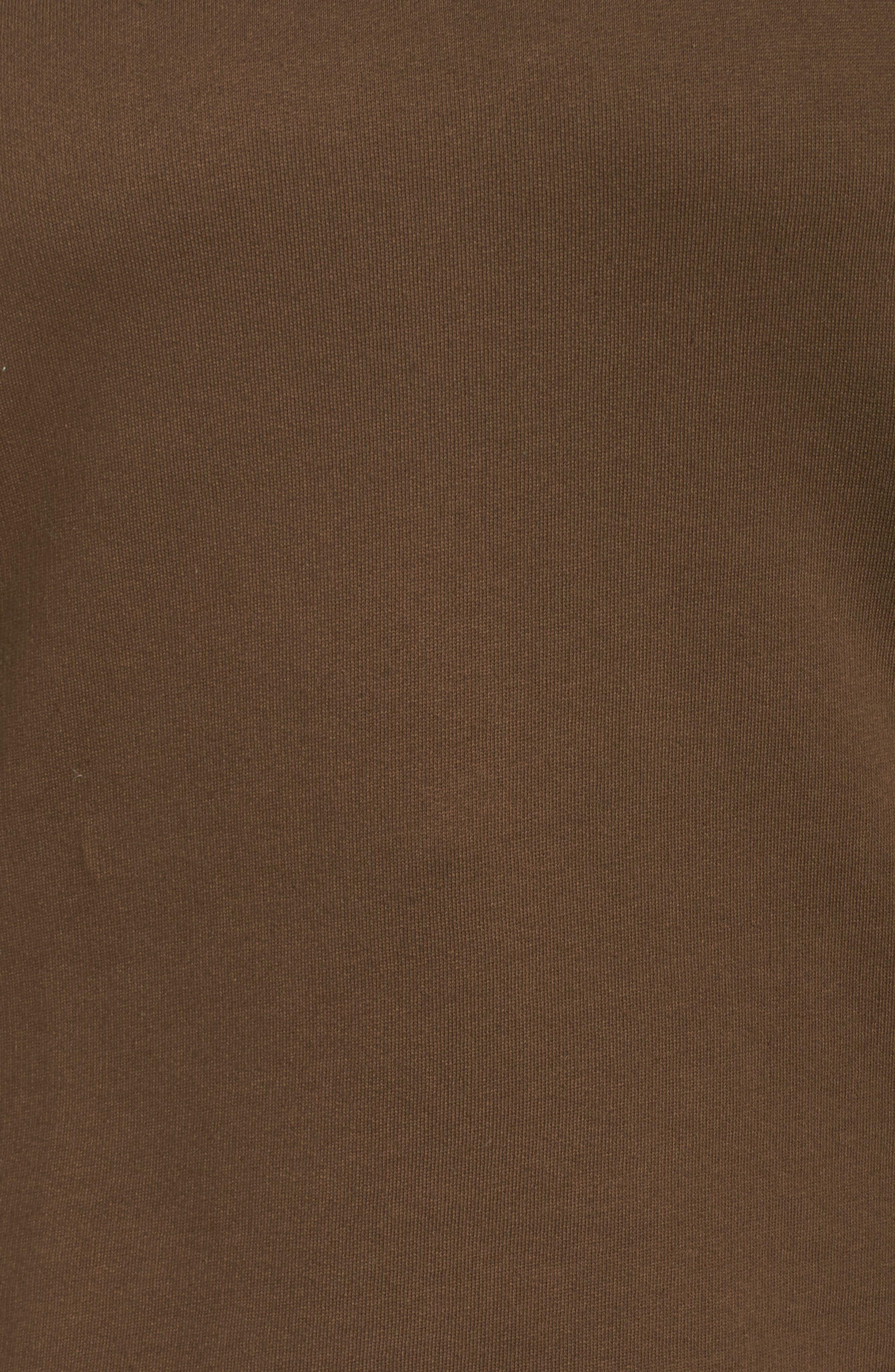 Ruffle Sleeve Sweatshirt,                             Alternate thumbnail 5, color,                             Tree Moss