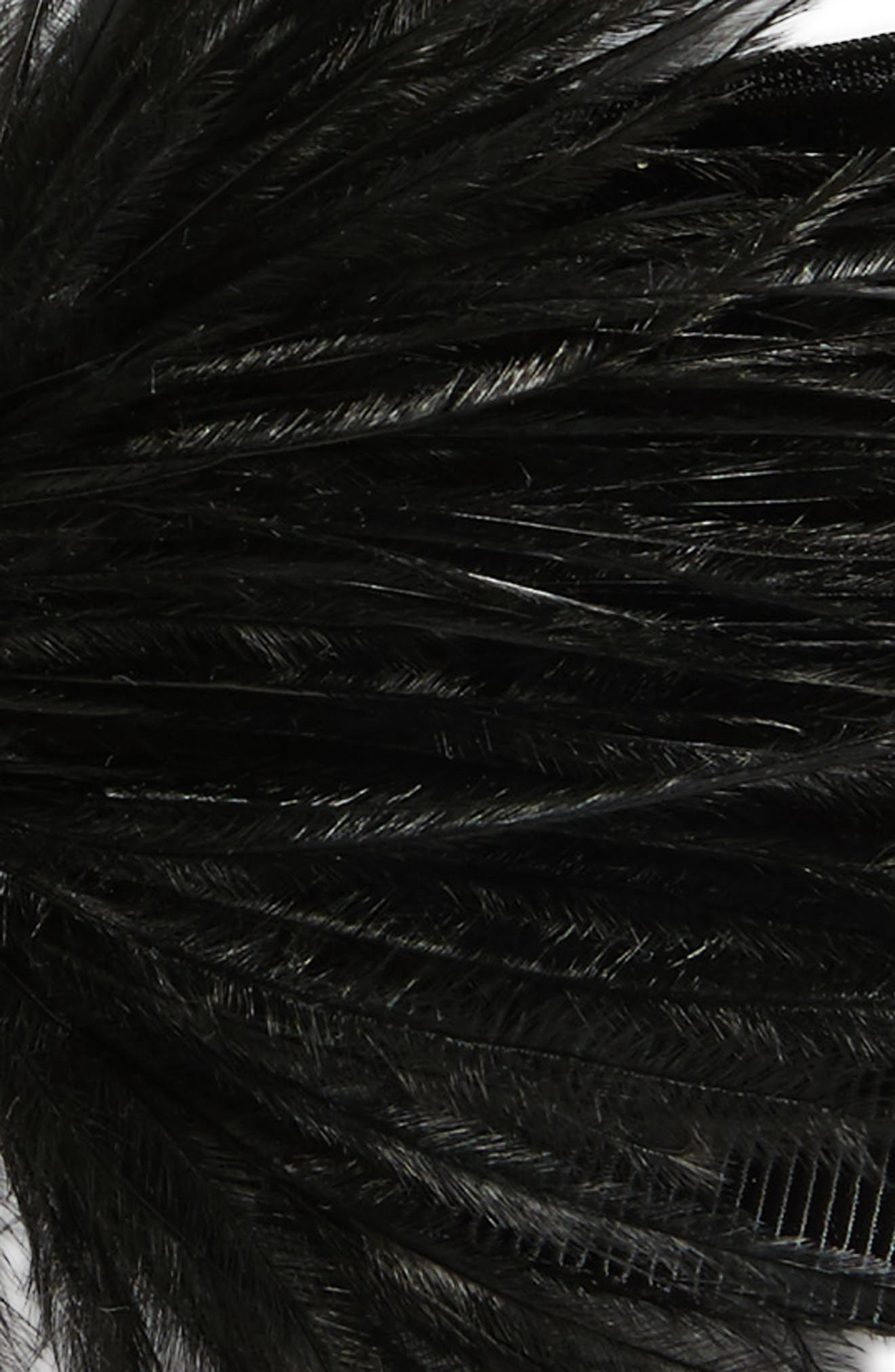Alternate Image 3  - Tasha Wild Feather Bow Barrette