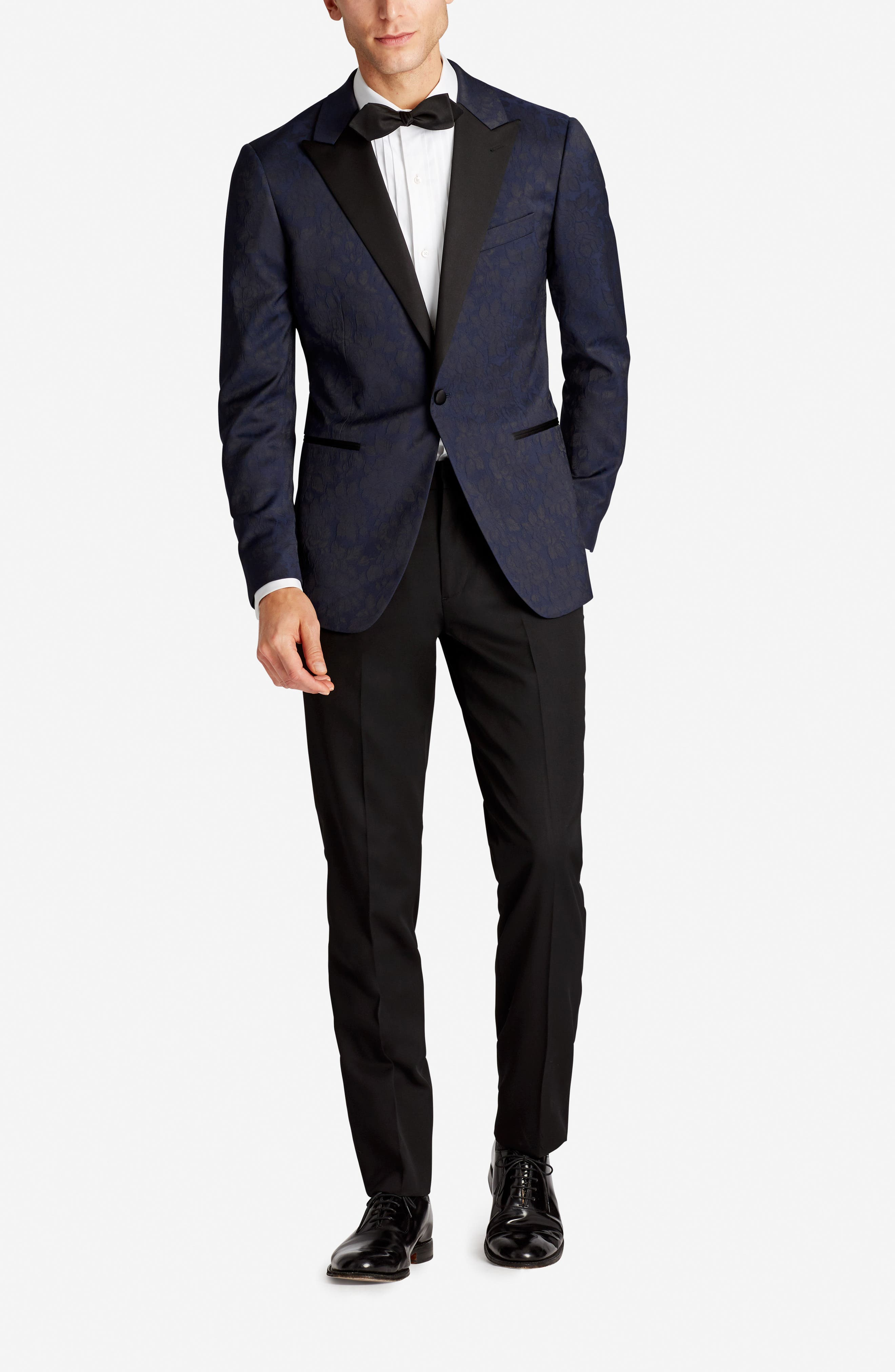 Capstone Slim Fit Stretch Dinner Jacket,                             Alternate thumbnail 5, color,                             Floral Jacquard