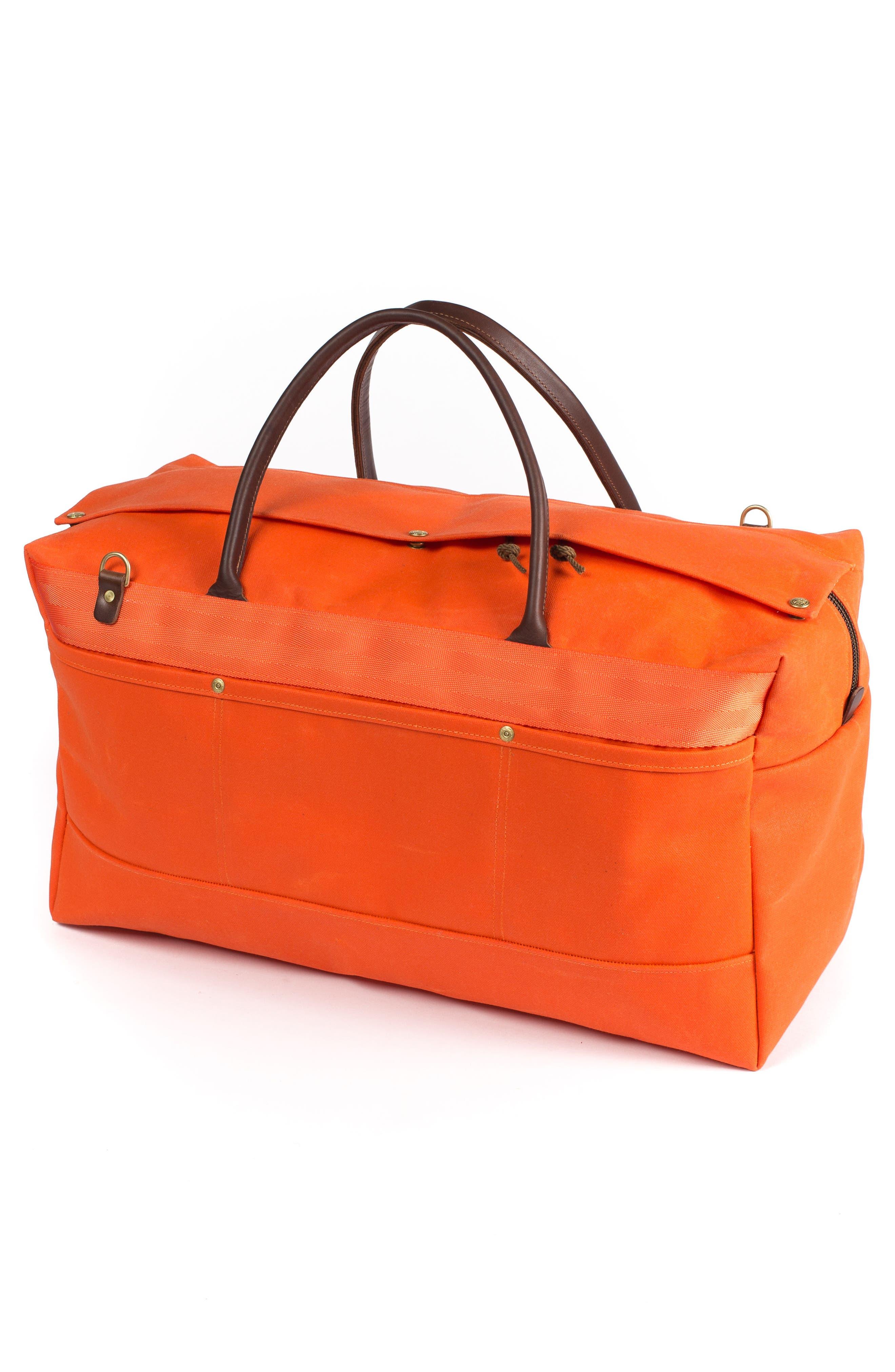 Grand Tourer Waxed Canvas Duffel Bag,                             Alternate thumbnail 2, color,                             Orange