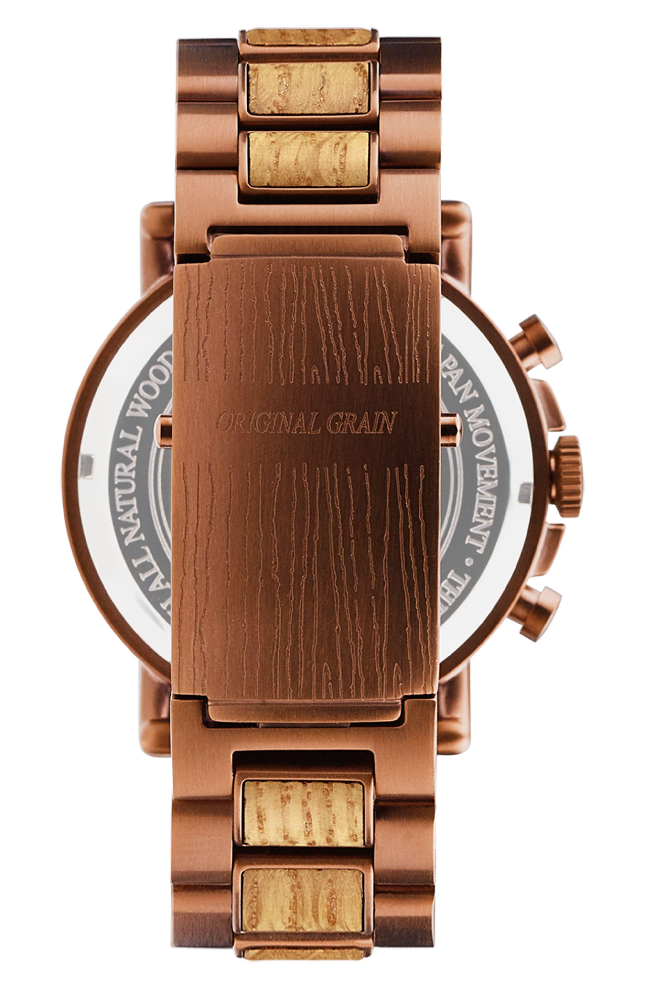 Alternate Image 2  - Original Grain Alterra Chronograph Bracelet Watch, 44mm