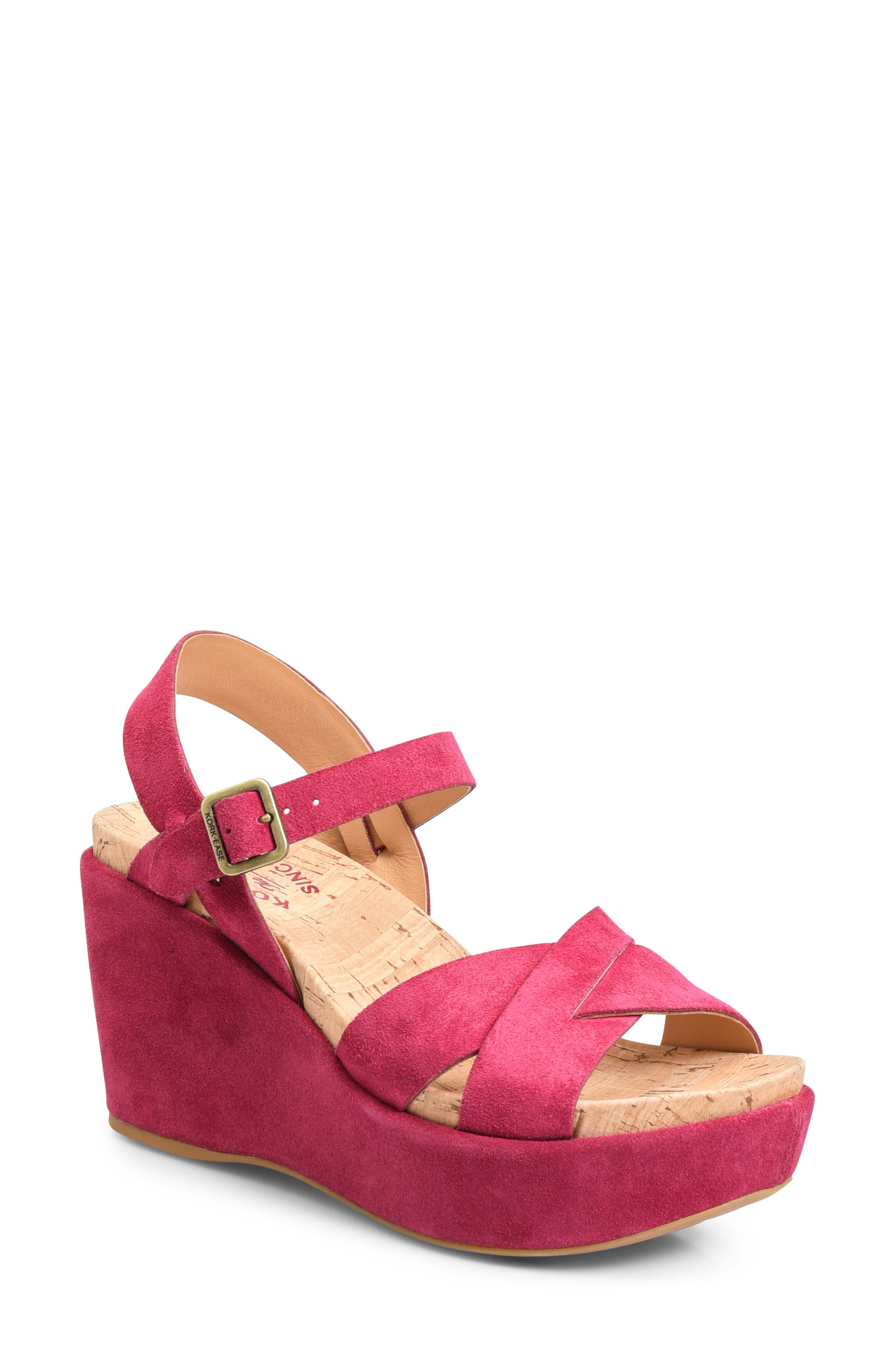 Kork-Ease® 'Ava 2.0' Platform Wedge Sandal (Women)