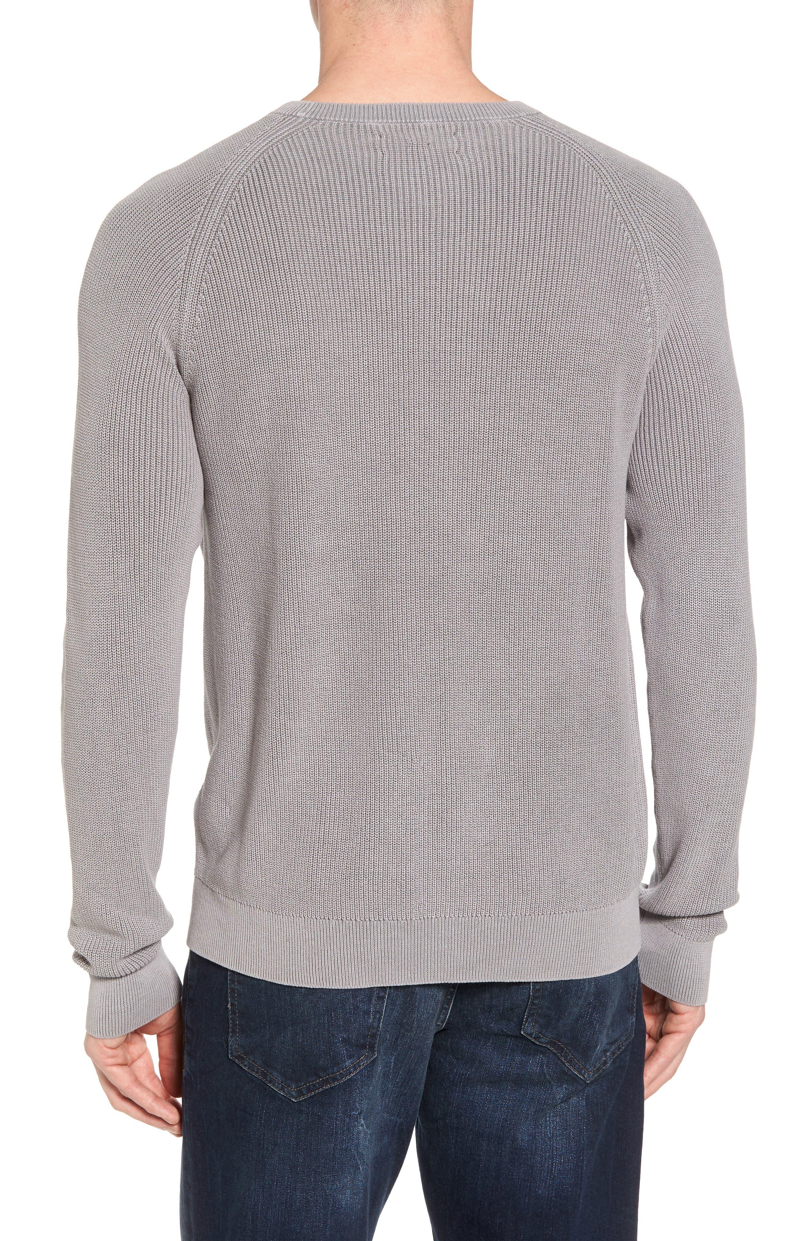 Crewneck Sweater,                             Alternate thumbnail 2, color,                             Grey Weather
