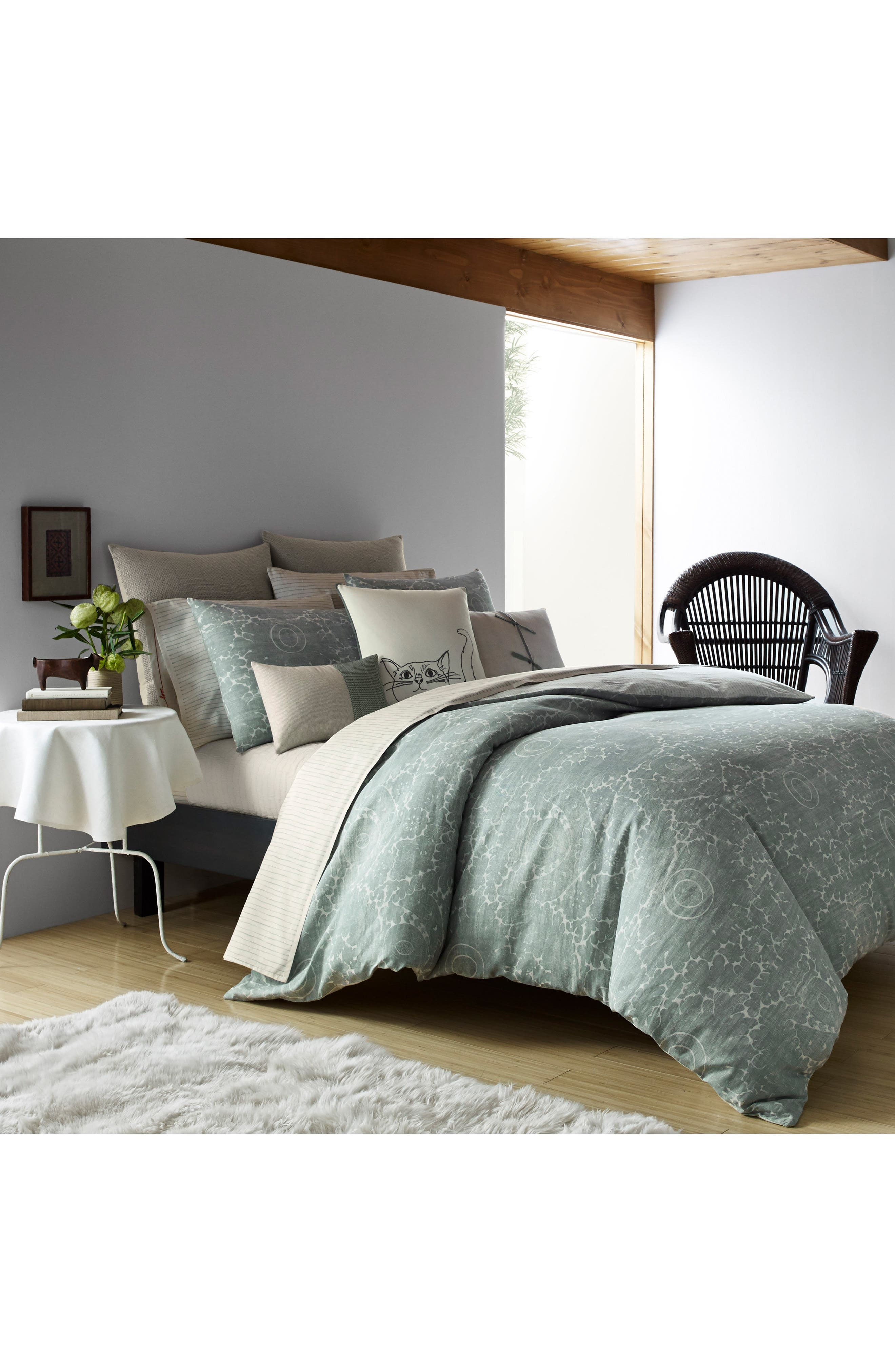 Eden Comforter & Sham Set,                         Main,                         color, Green
