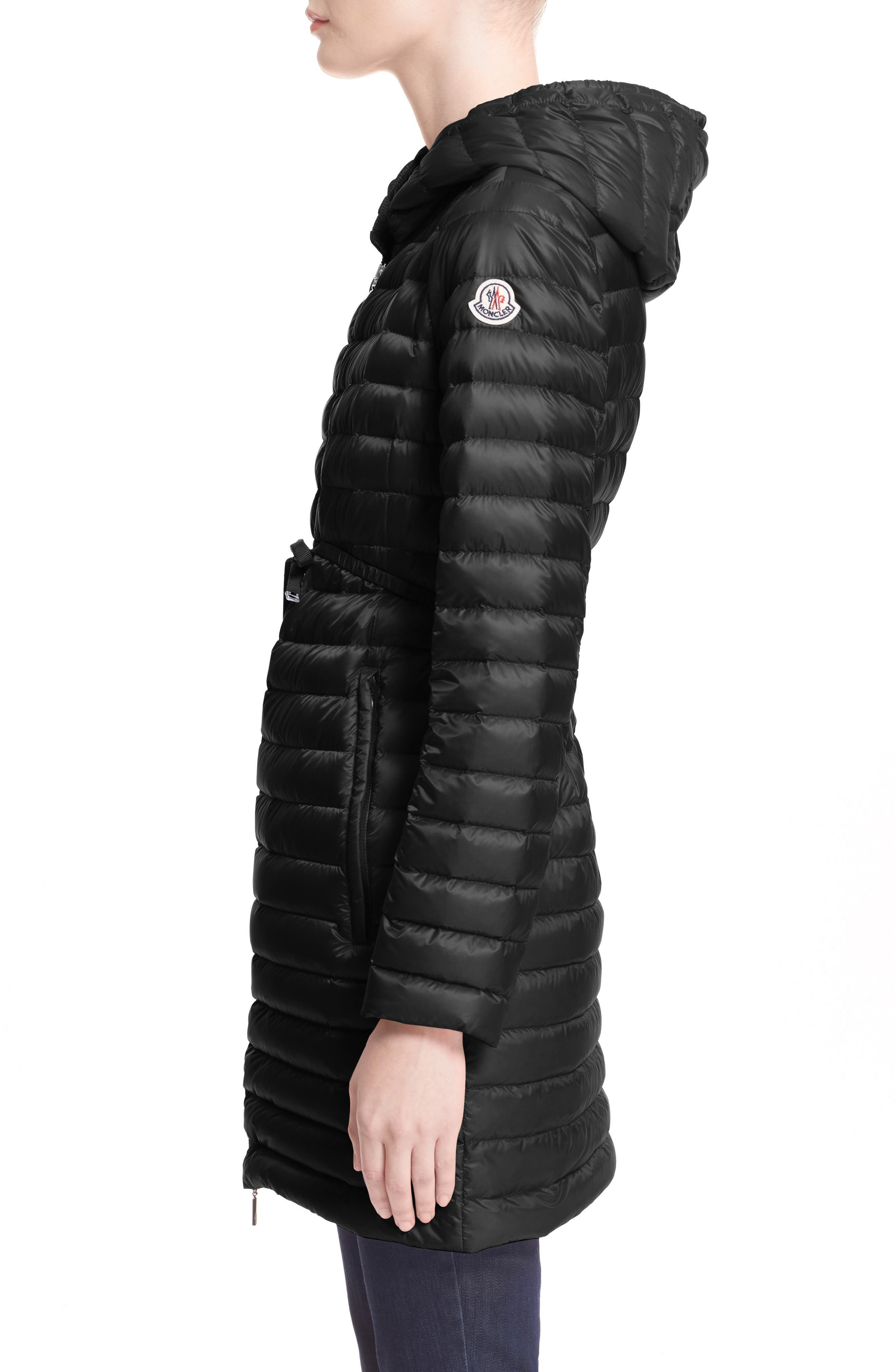 Alternate Image 3  - Moncler Barbel Water Resistant Long Hooded Down Jacket