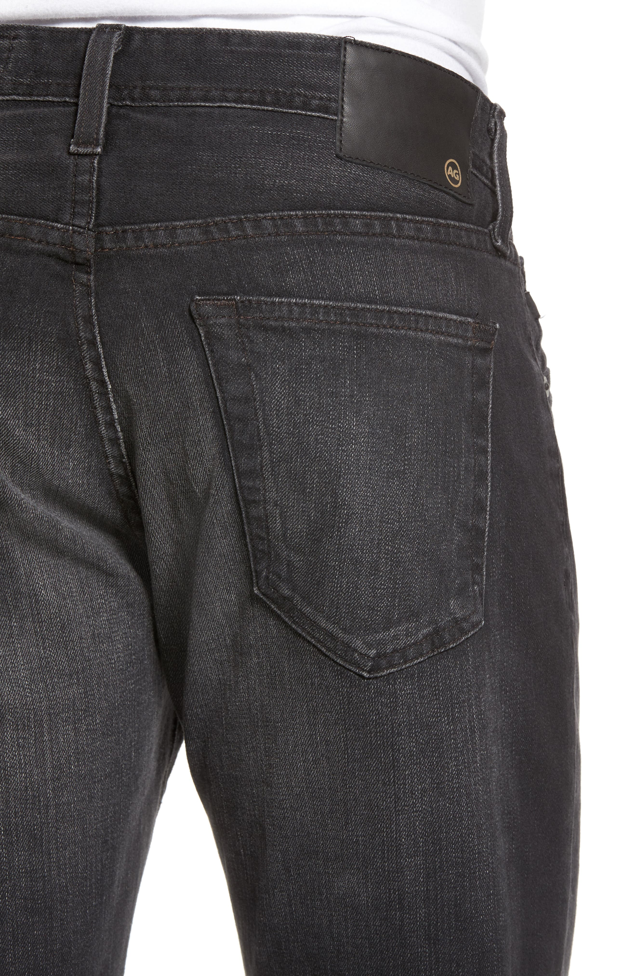 Tellis Modern Slim Fit Jeans,                             Alternate thumbnail 4, color,                             Smudged Black