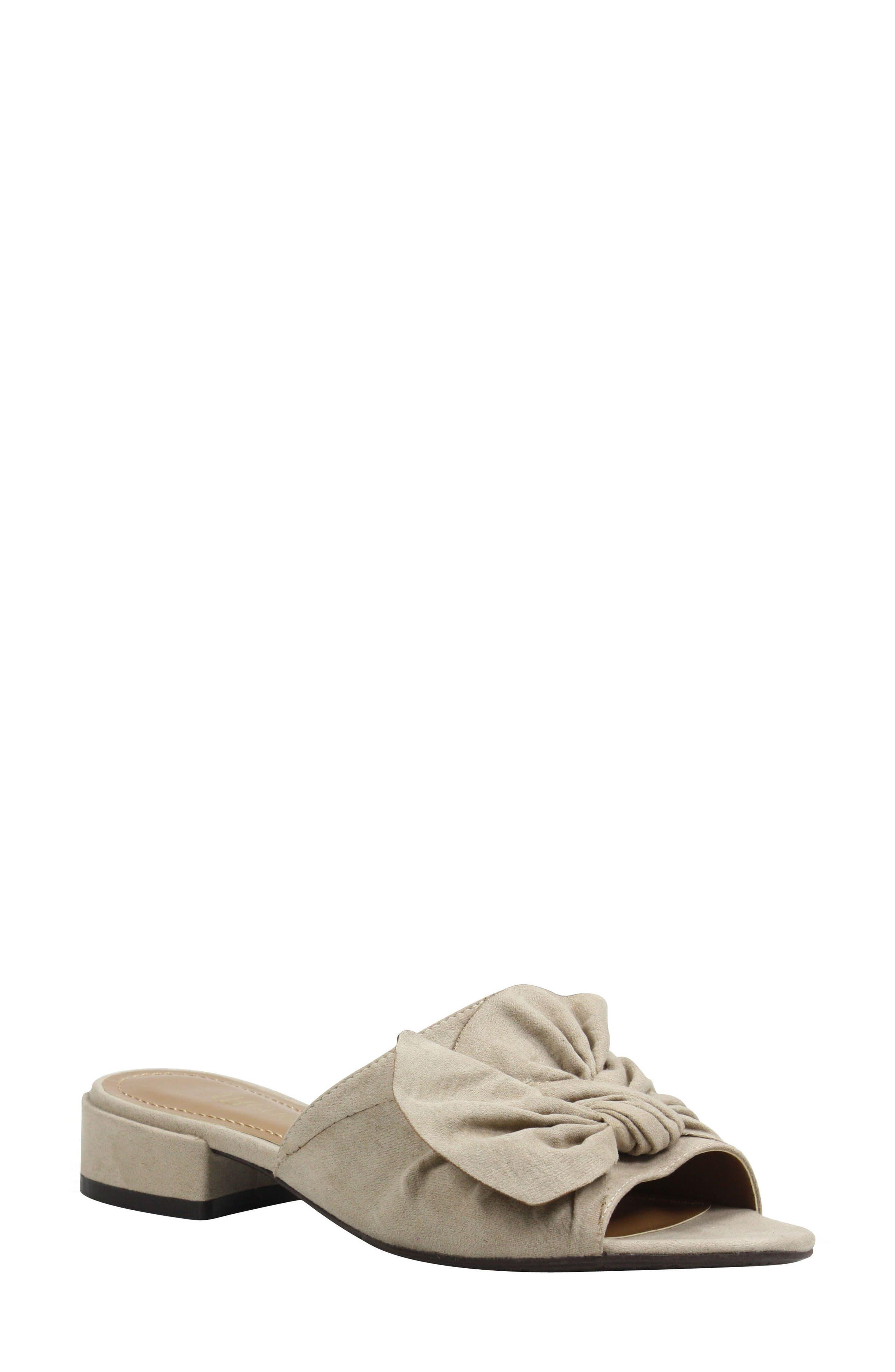 Sattuck Slide Sandal,                         Main,                         color, Dark Beige Fabric