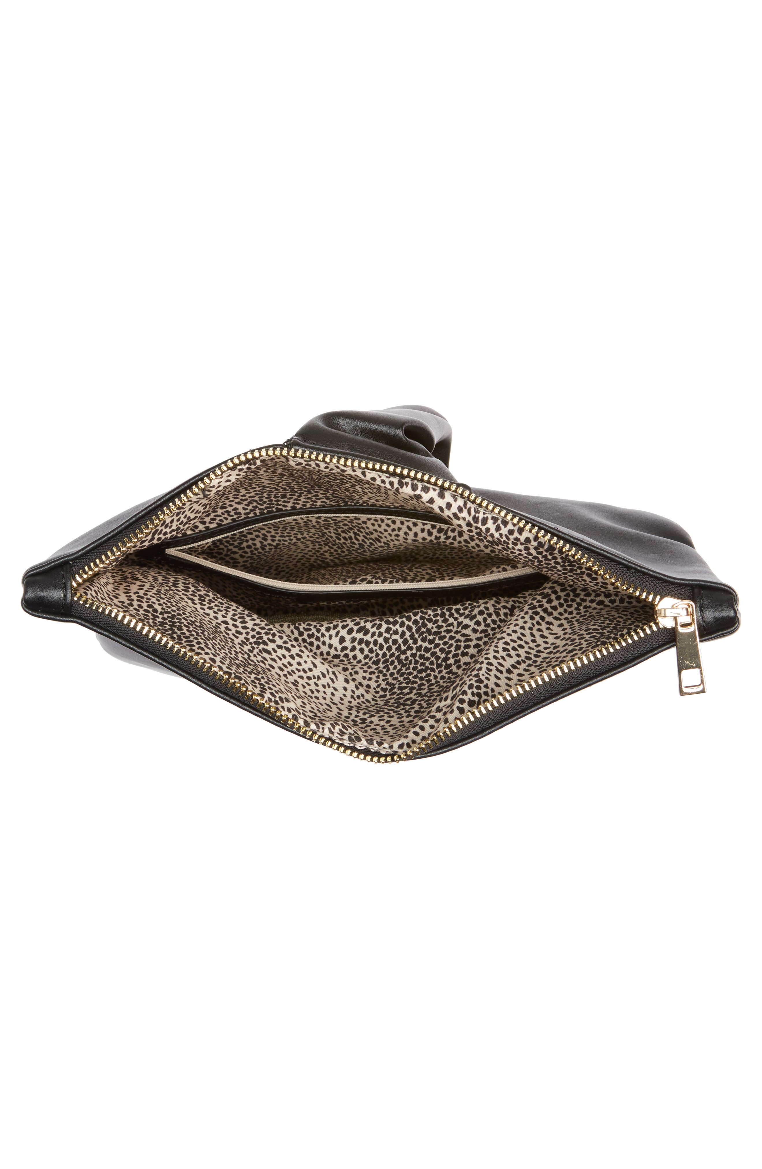 Alternate Image 4  - Sole Society Lenore Foldover Faux Leather Clutch