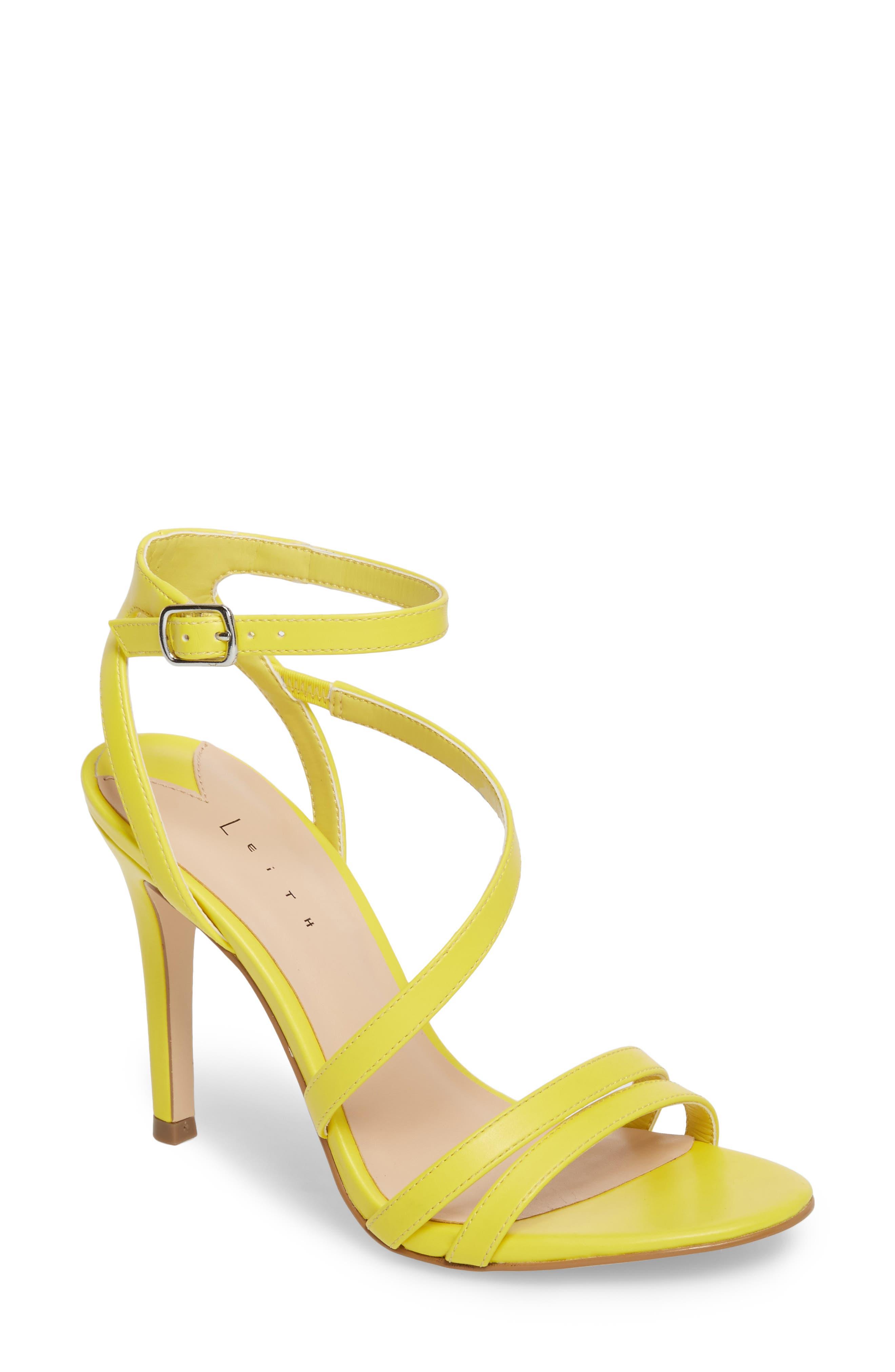 Leith Ava Asymmetrical Strappy Sandal (Women)