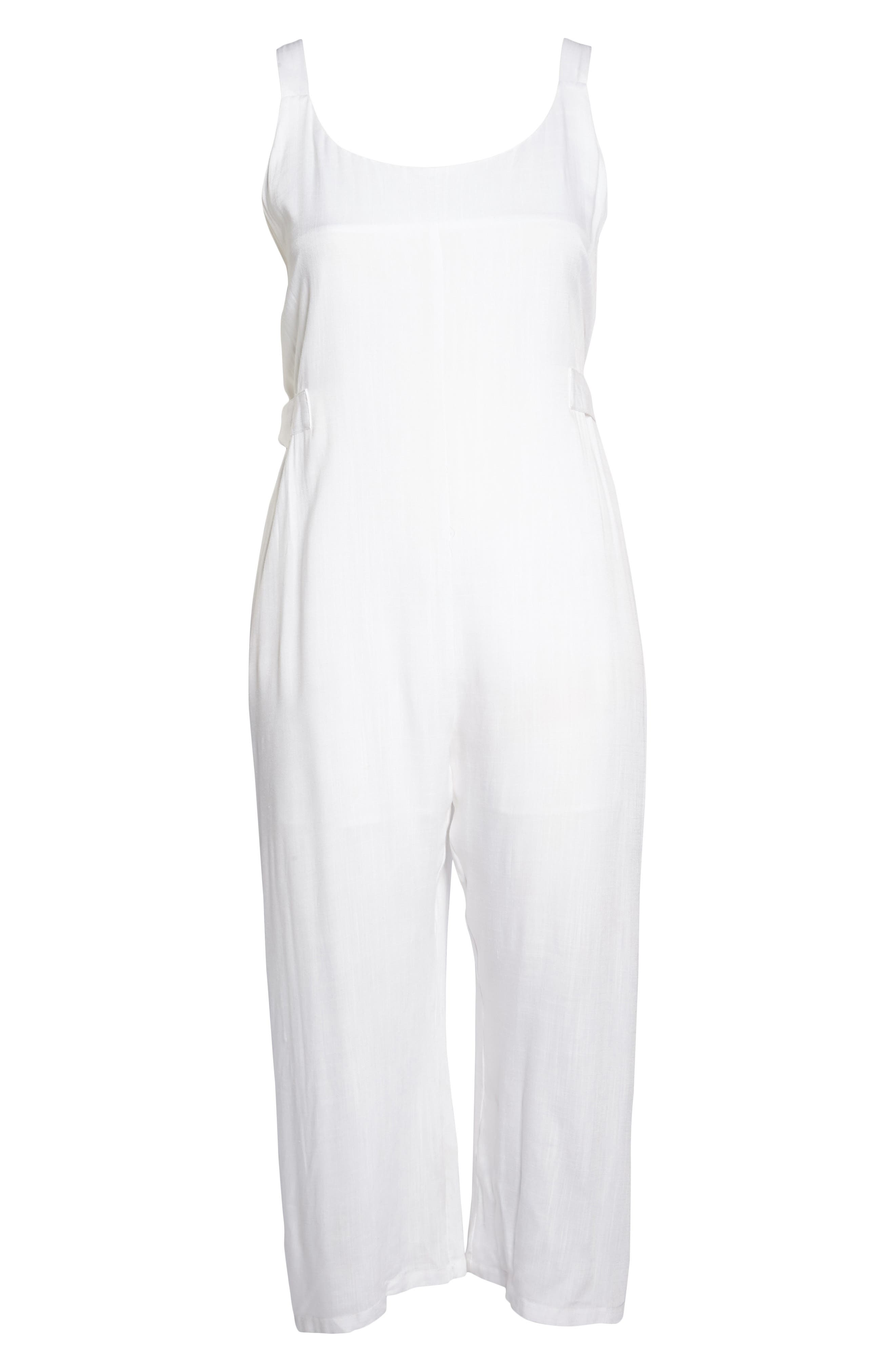 Culotte Jumpsuit,                             Alternate thumbnail 8, color,                             White