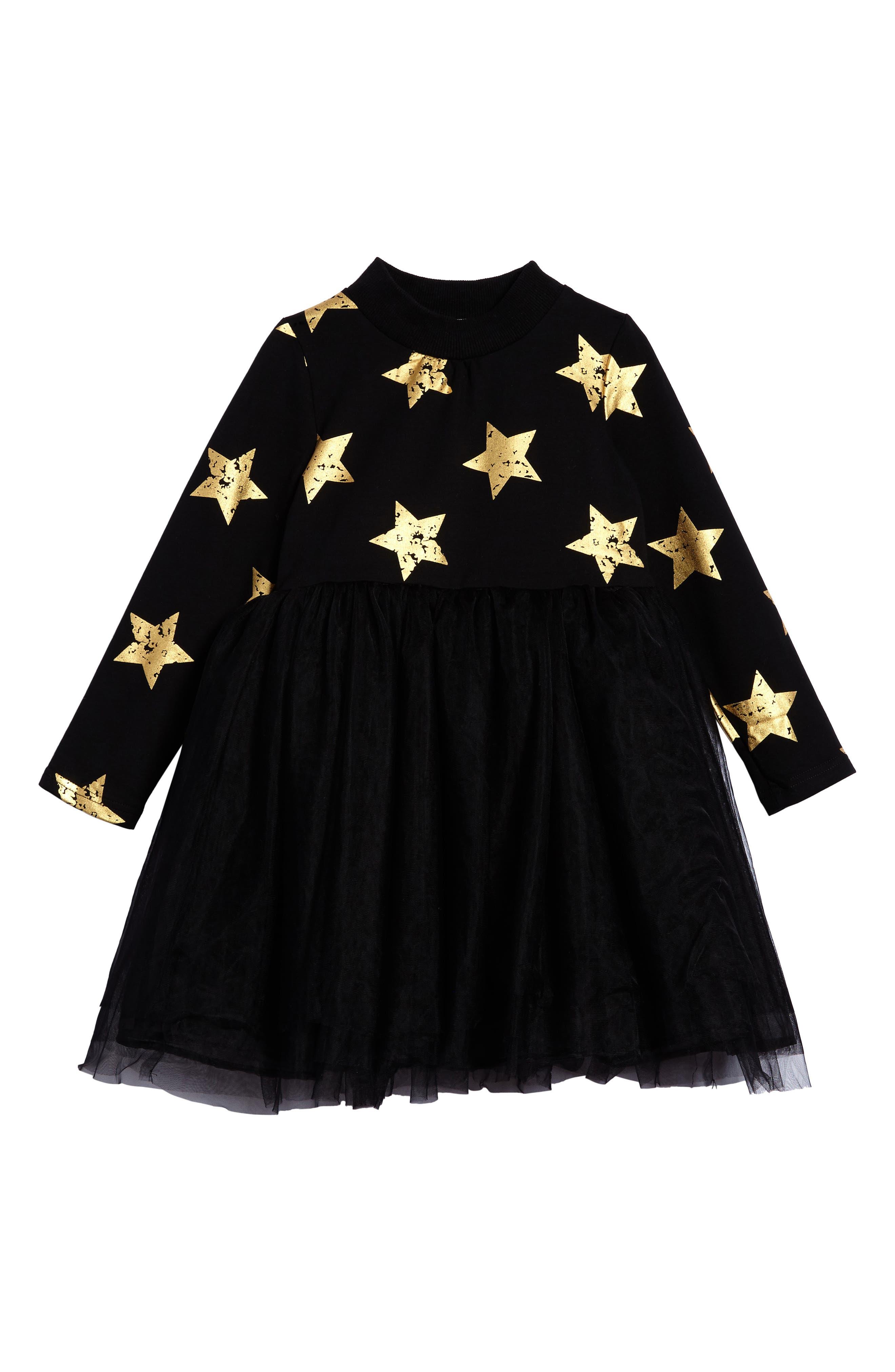 Main Image - Doe A Dear Star Tulle Party Dress (Toddler Girls, Little Girls & Big Girls)