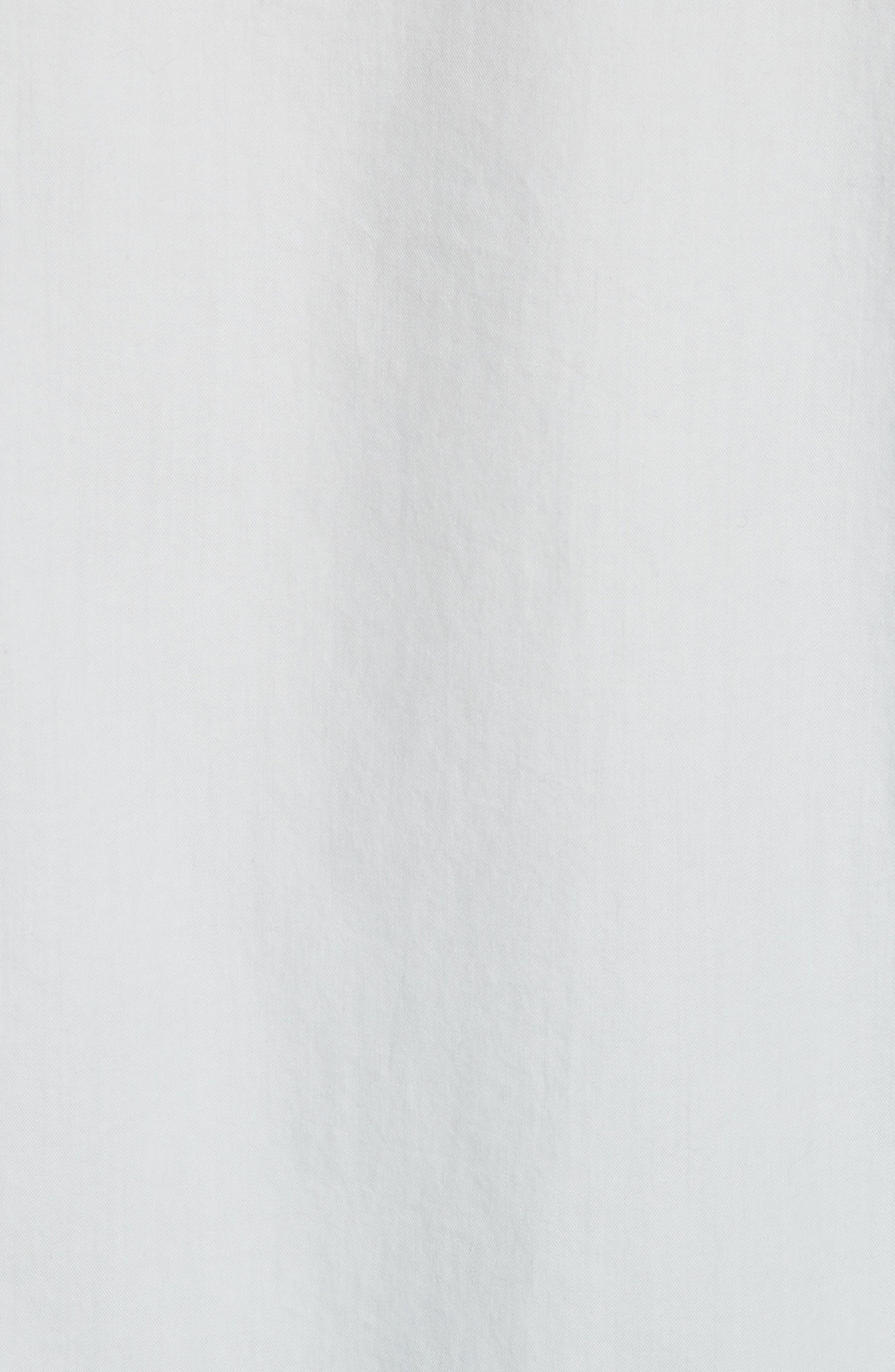 Raw Edge Oversize Long Sleeve Top,                             Alternate thumbnail 4, color,                             Ice Blue