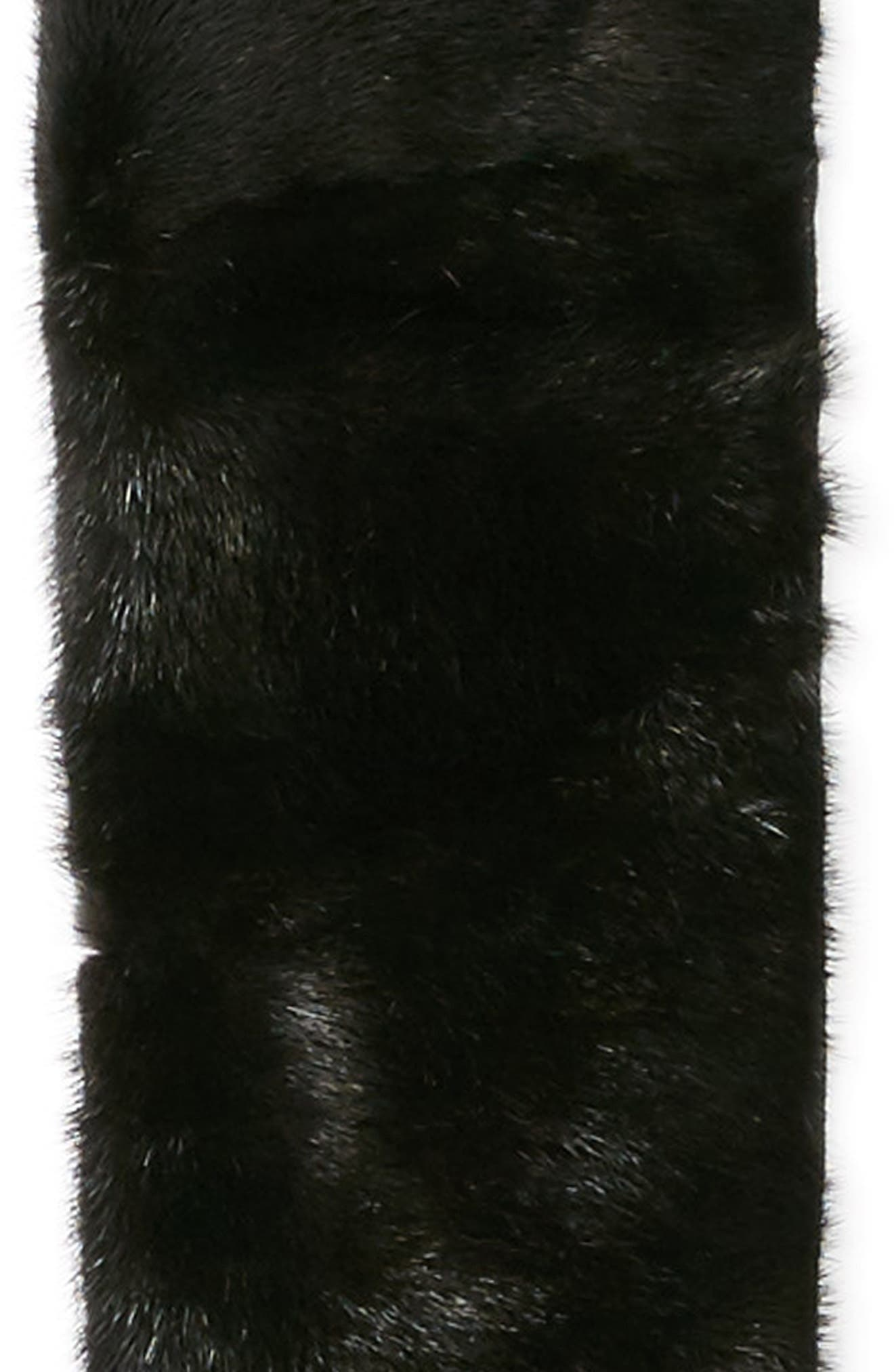 Genuine Mink Fur Collar,                             Alternate thumbnail 4, color,                             Beige