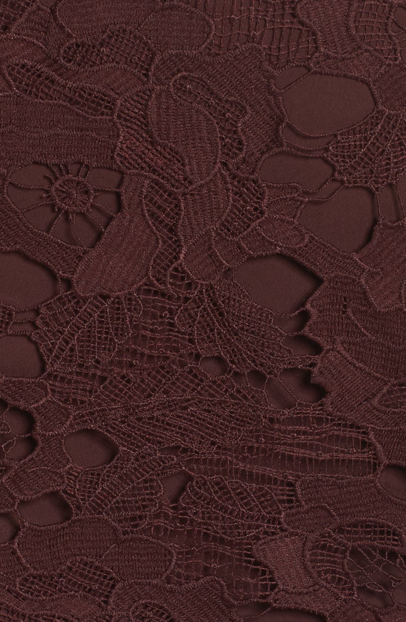 Enchantment Lace Midi Dress,                             Alternate thumbnail 5, color,                             Mahogany