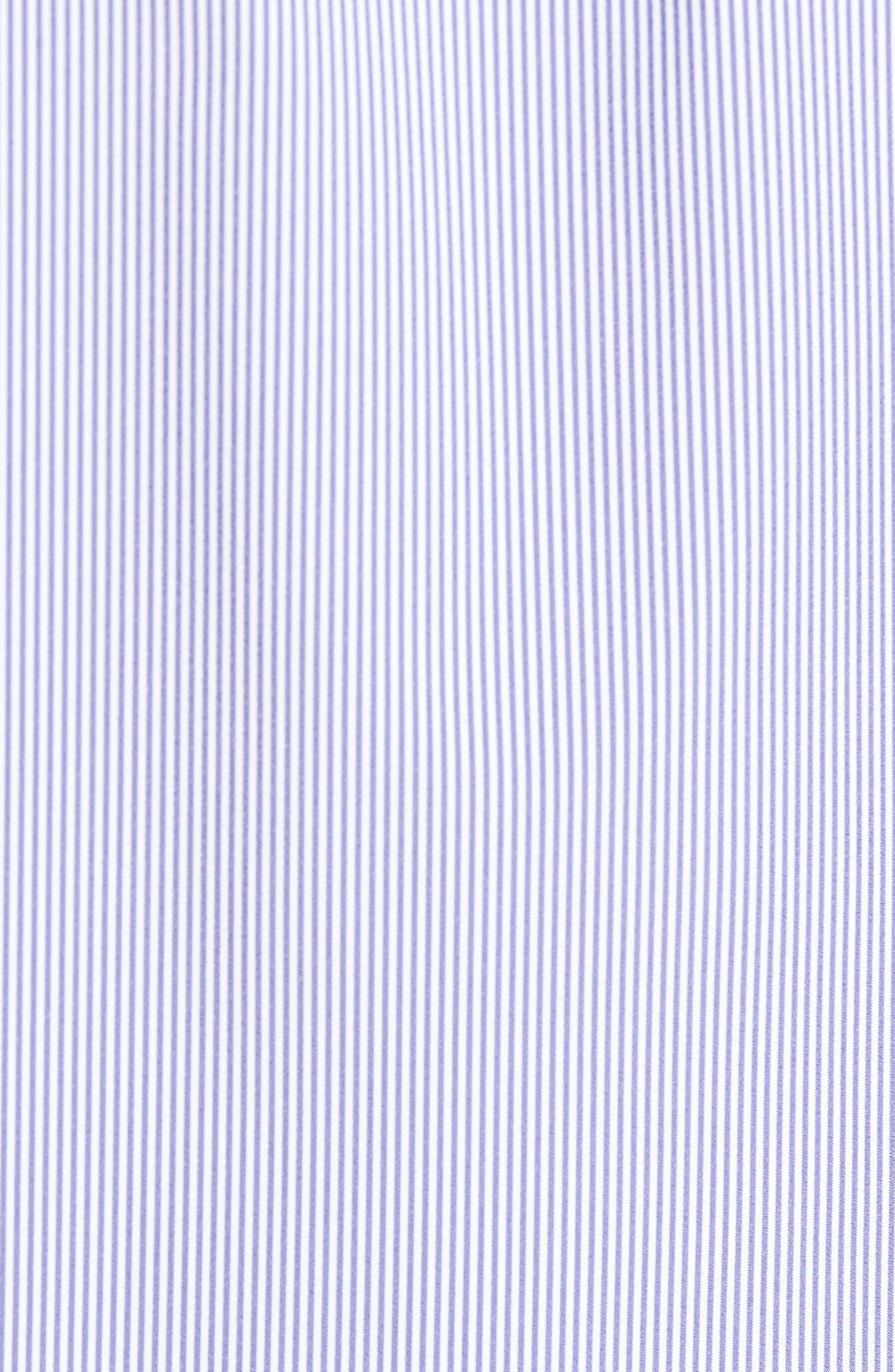 Newport Pinstripe Sport Shirt,                             Alternate thumbnail 5, color,                             Blue