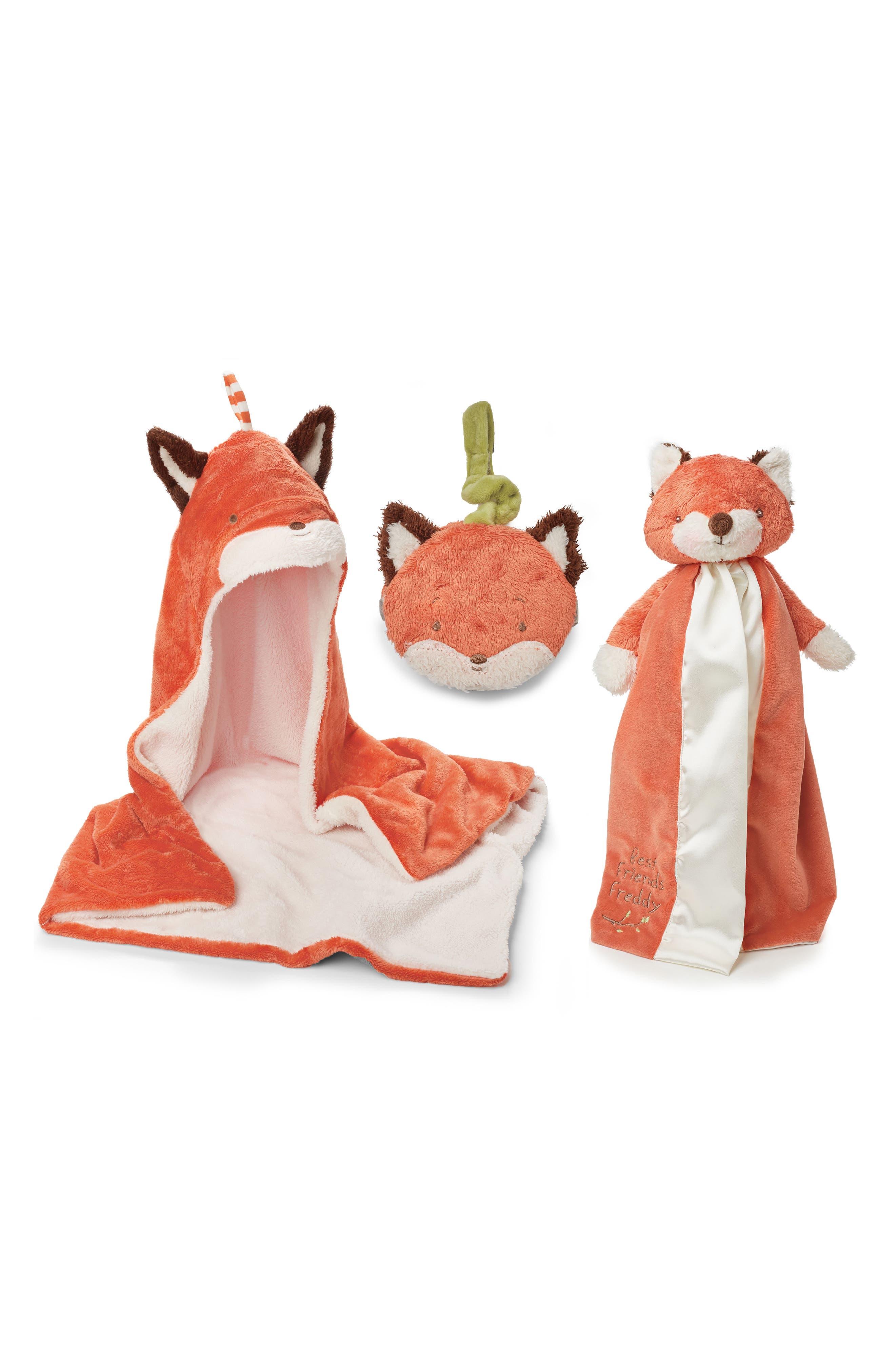Alternate Image 1 Selected - Bunnies by the Bay Fox Blanket, Book & Lovie Set