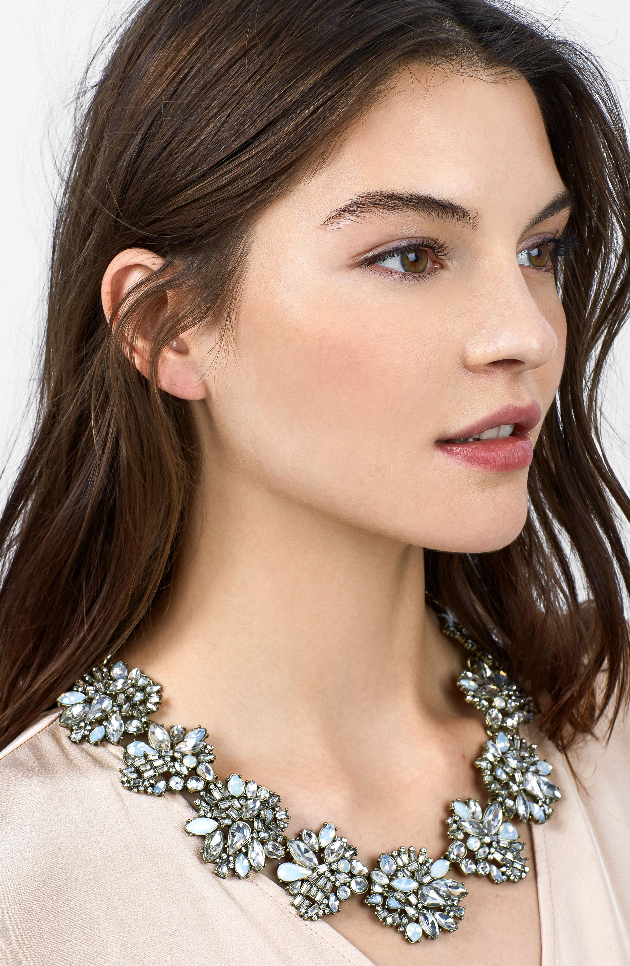 Lissandra Crystal Statement Necklace,                             Alternate thumbnail 2, color,                             Opal
