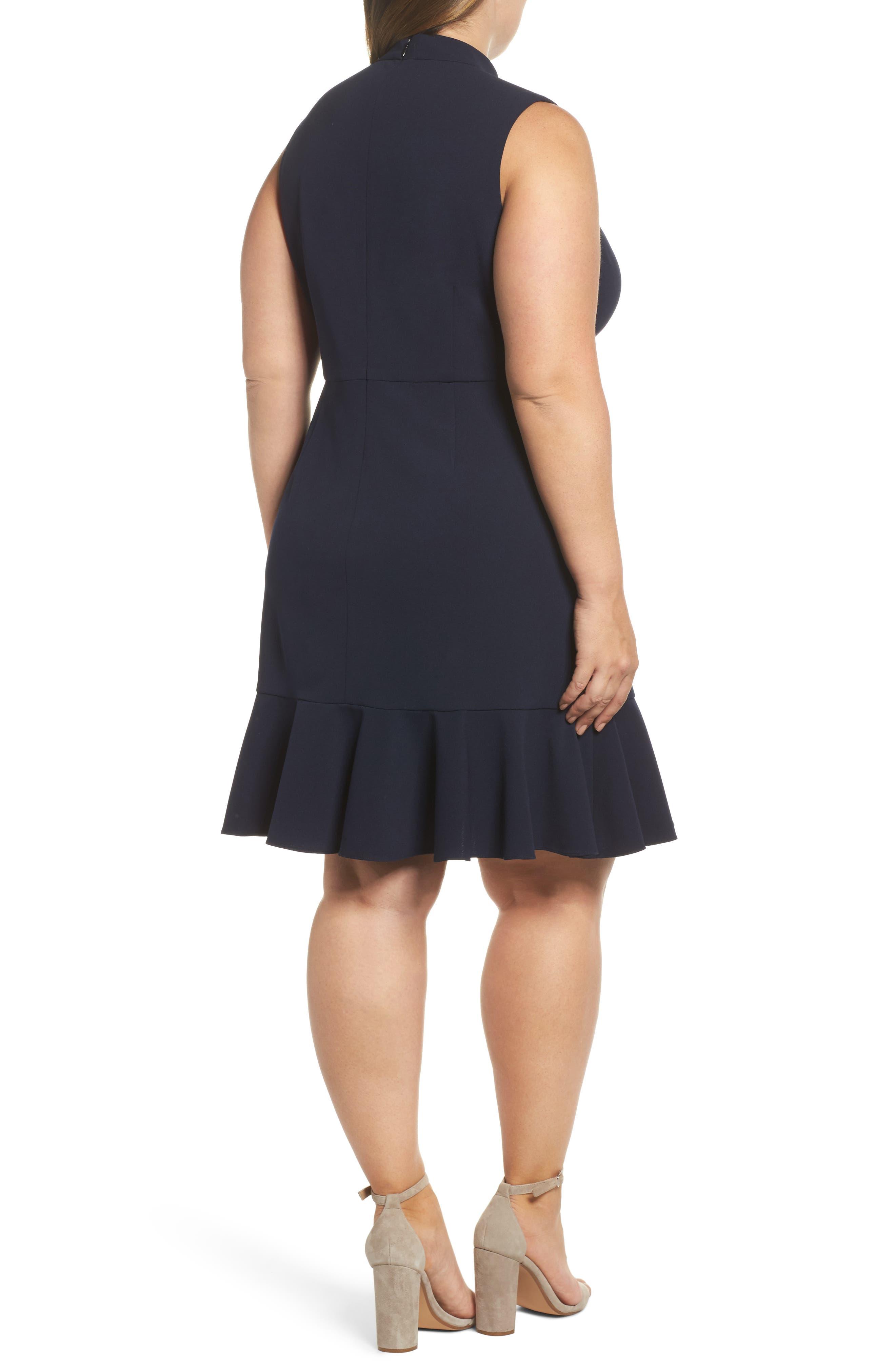 Alternate Image 2  - Chelsea28 Choker Fit & Flare Dress (Plus Size)