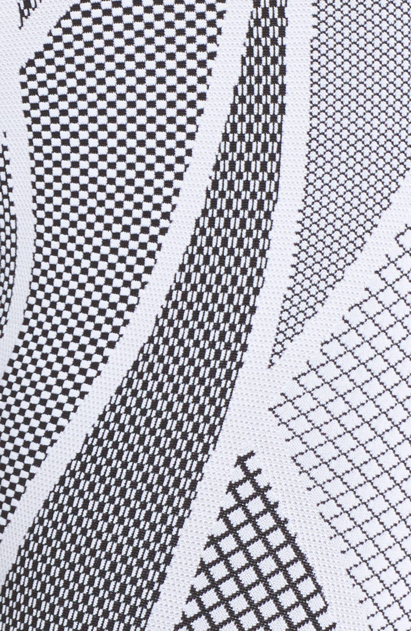 High Waist Midi Leggings,                             Alternate thumbnail 7, color,                             White Breakout
