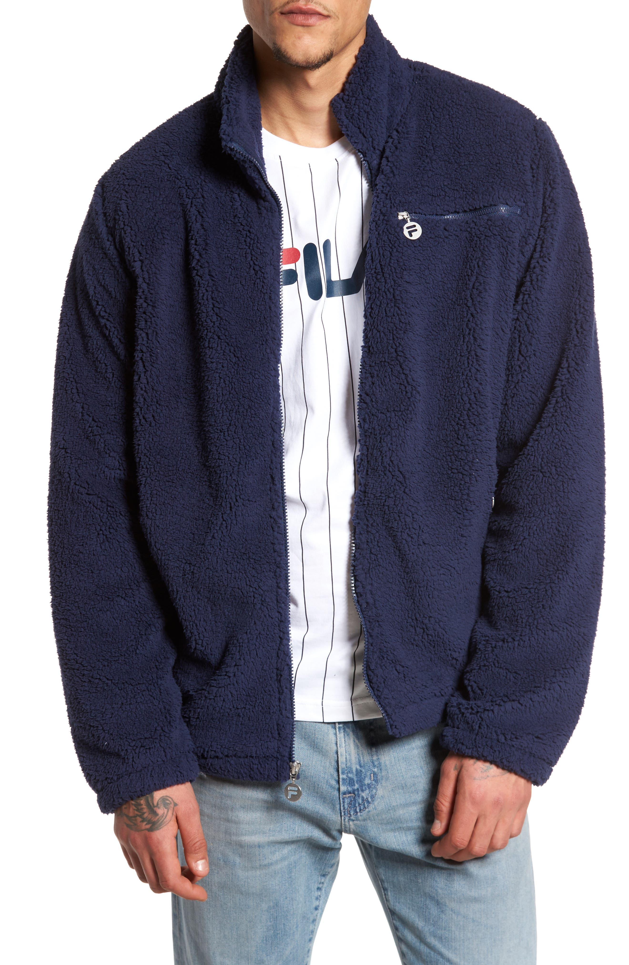 Alternate Image 1 Selected - FILA Finlay Fleece Jacket