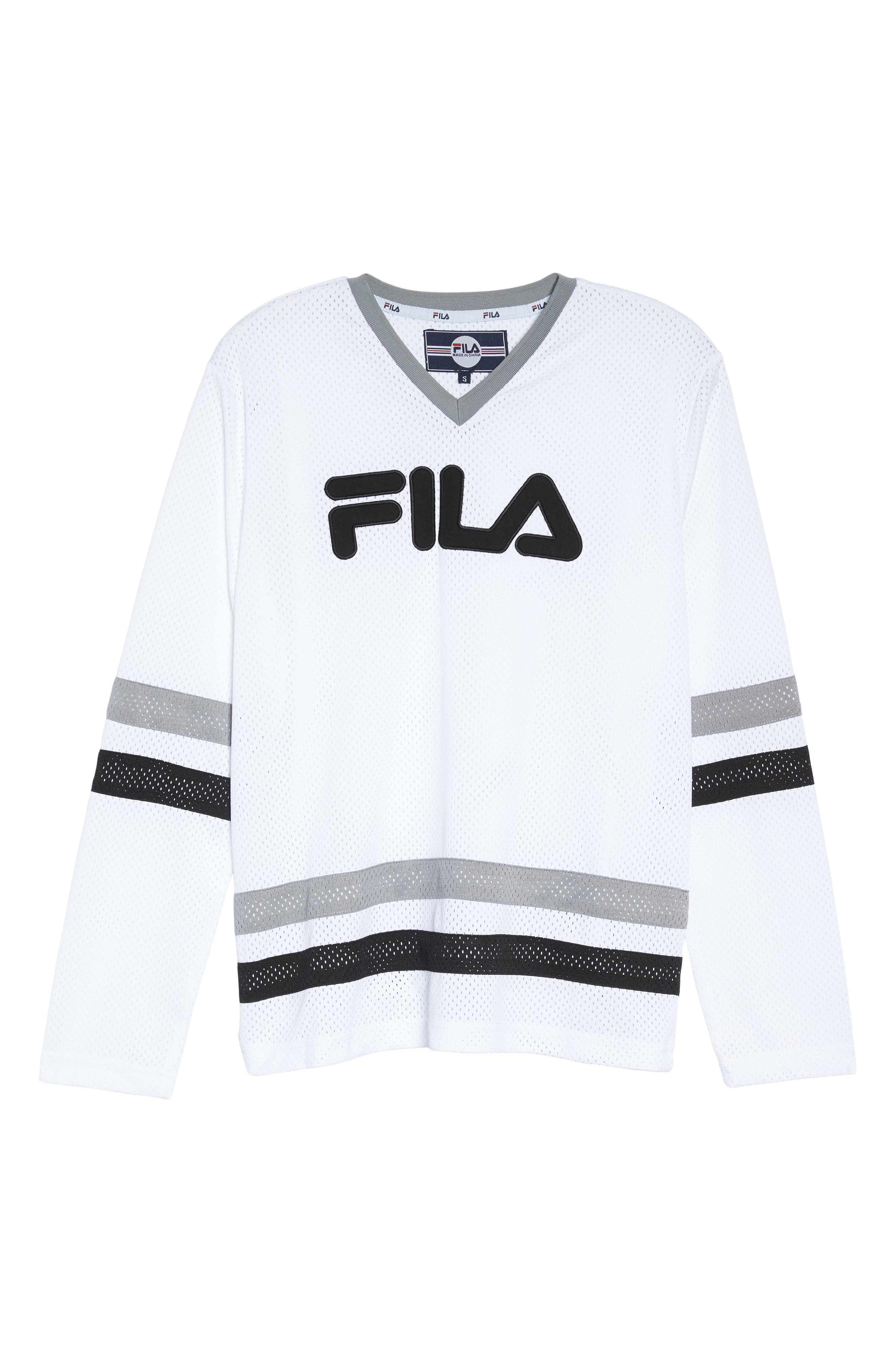 Tanya Hockey Jersey,                             Alternate thumbnail 7, color,                             White/ Black/ Silver Dollar