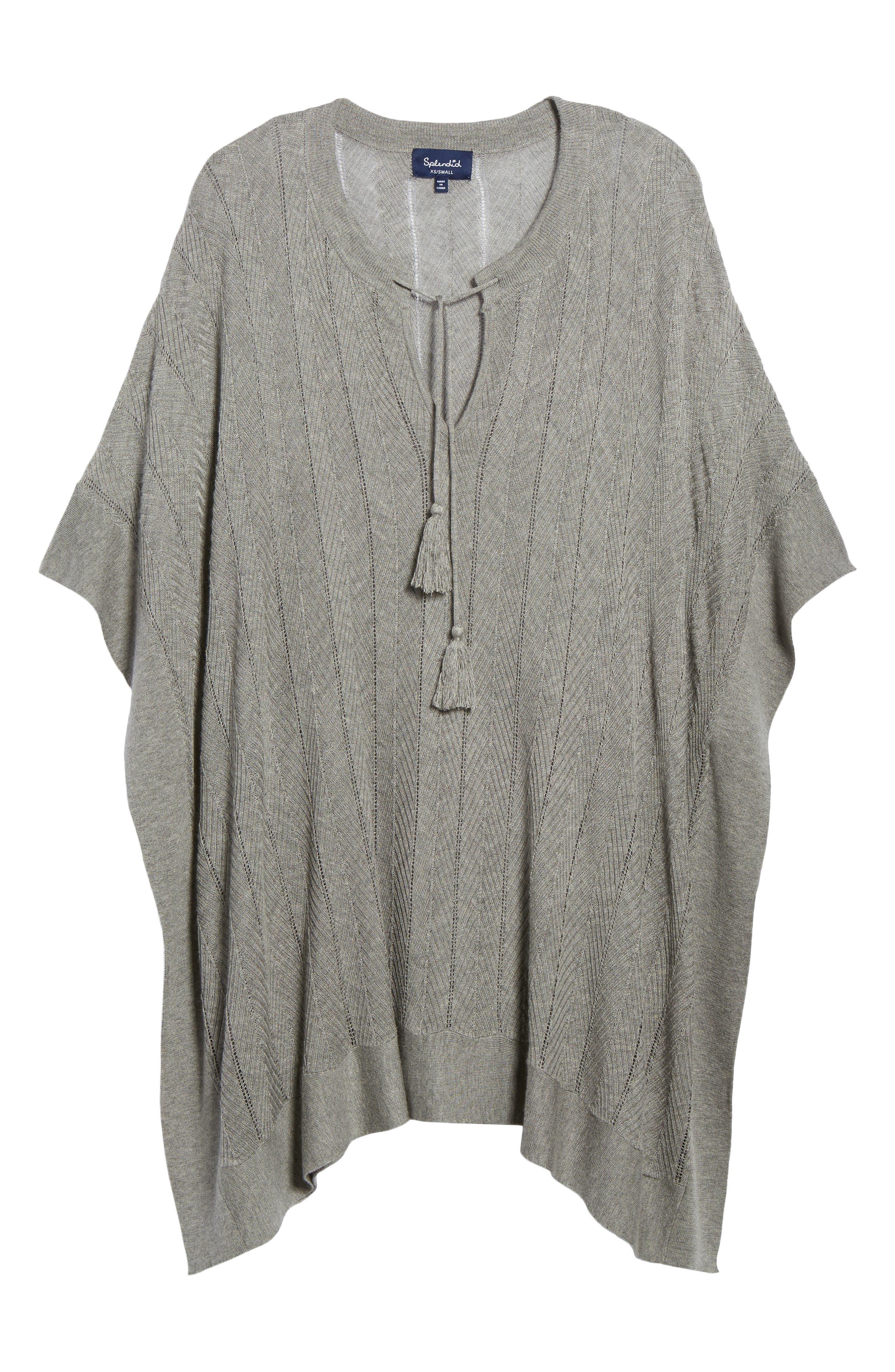 Alternate Image 6  - Splendid Pebble Poncho Sweater