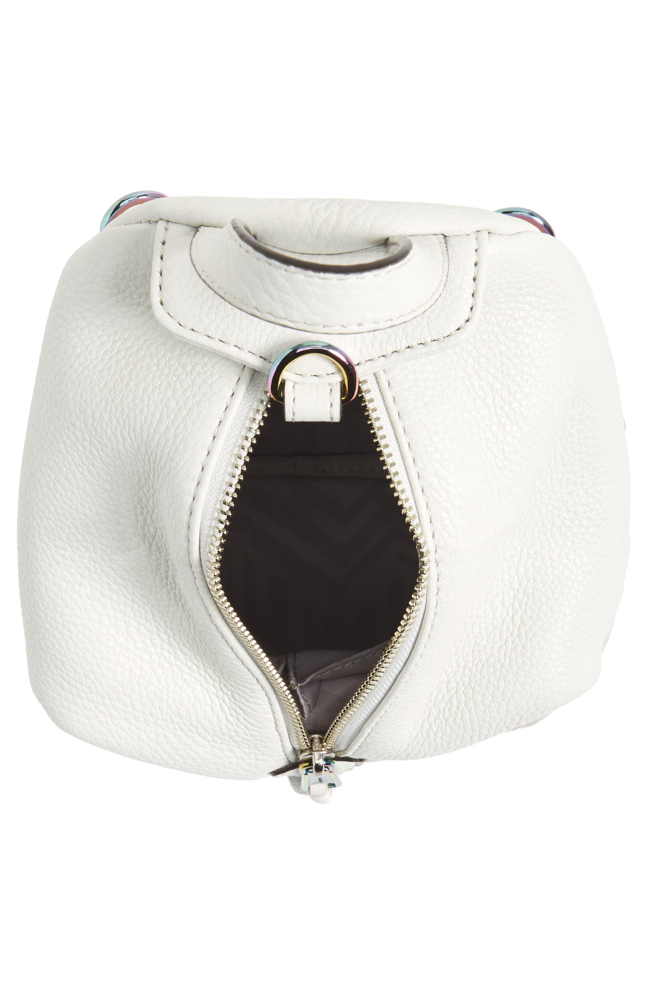Alternate Image 4  - Rebecca Minkoff Mini Julian Nubuck Leather Convertible Backpack