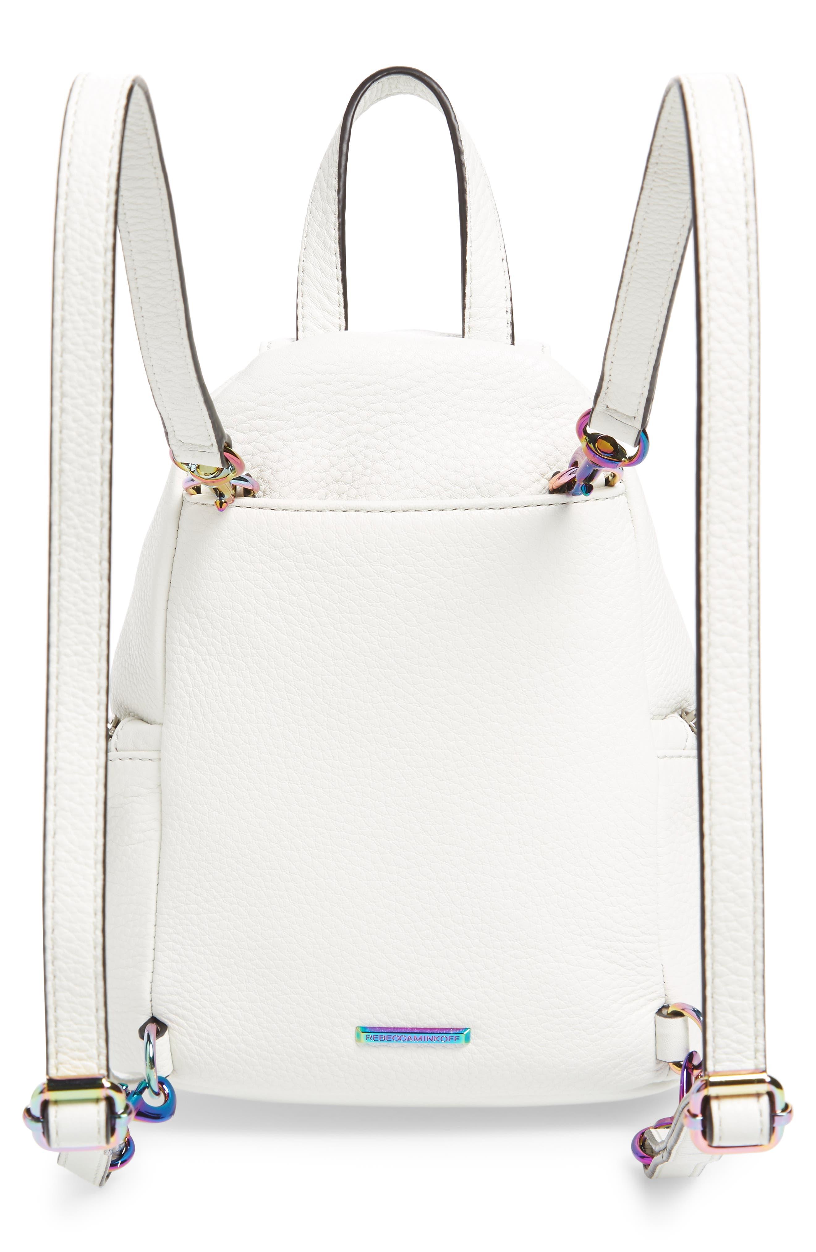 Alternate Image 3  - Rebecca Minkoff Mini Julian Nubuck Leather Convertible Backpack