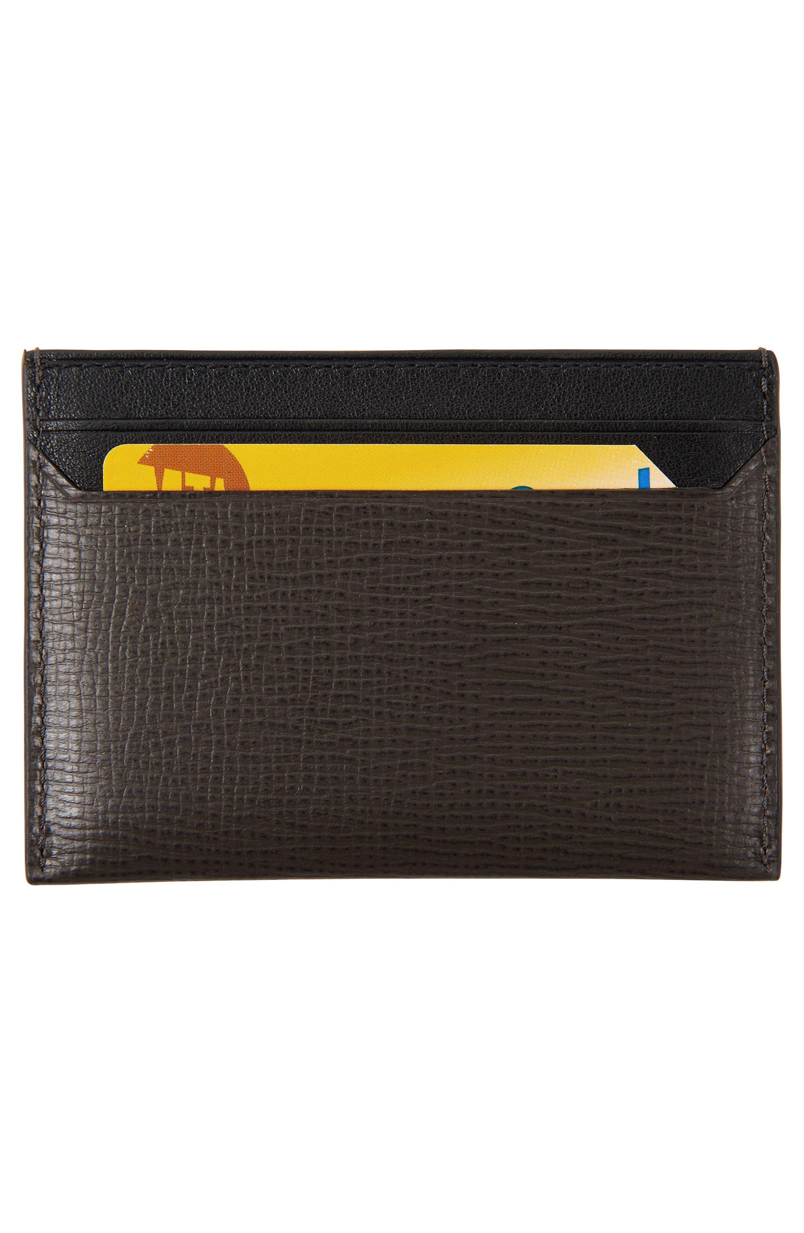Monaco Leather Card Case,                             Alternate thumbnail 2, color,                             Taupe