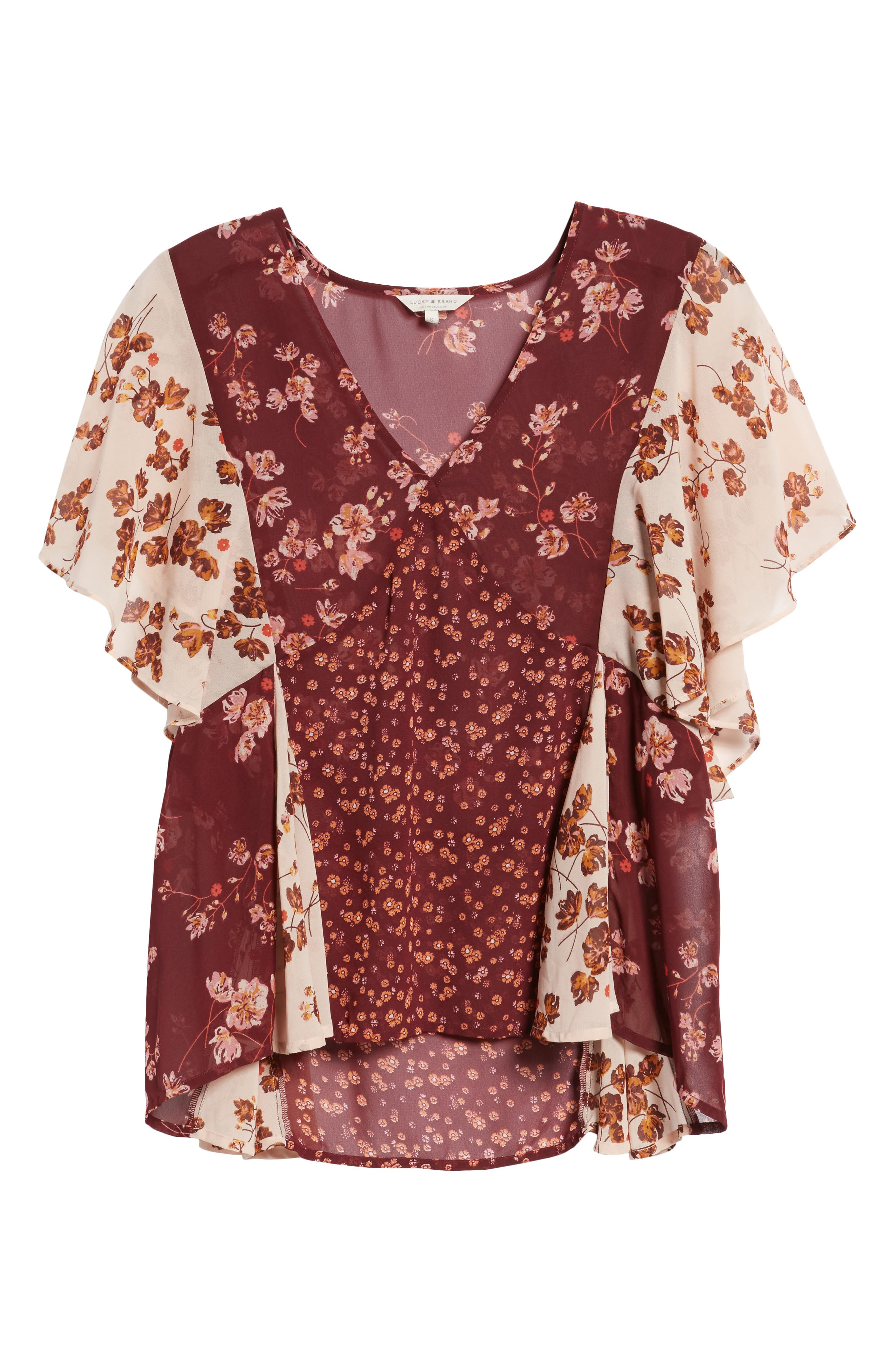 Alternate Image 6  - Lucky Brand Mixed Floral PrintTop