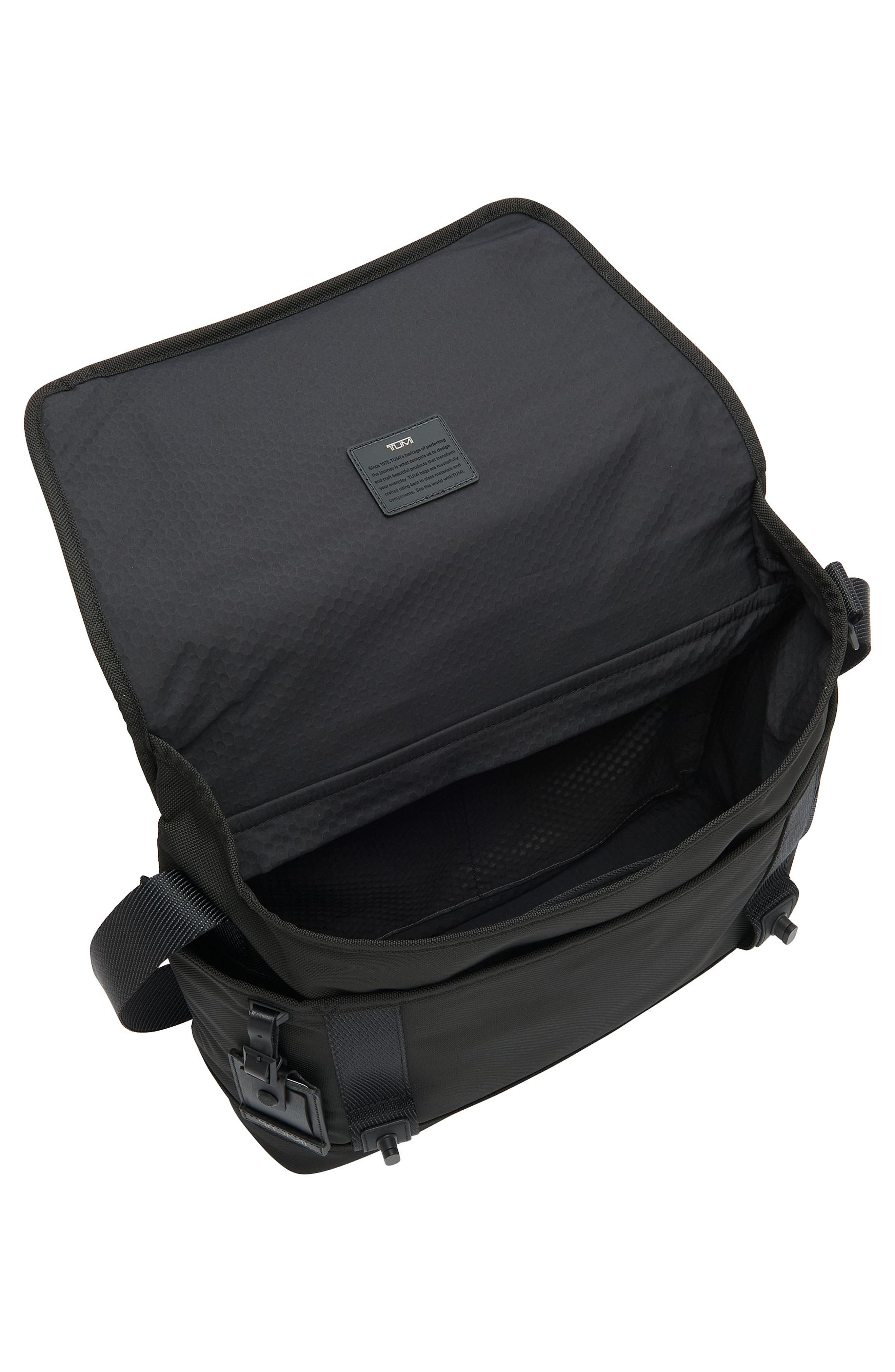 Alpha Bravo - Fallon Messenger Bag,                             Alternate thumbnail 3, color,                             Black