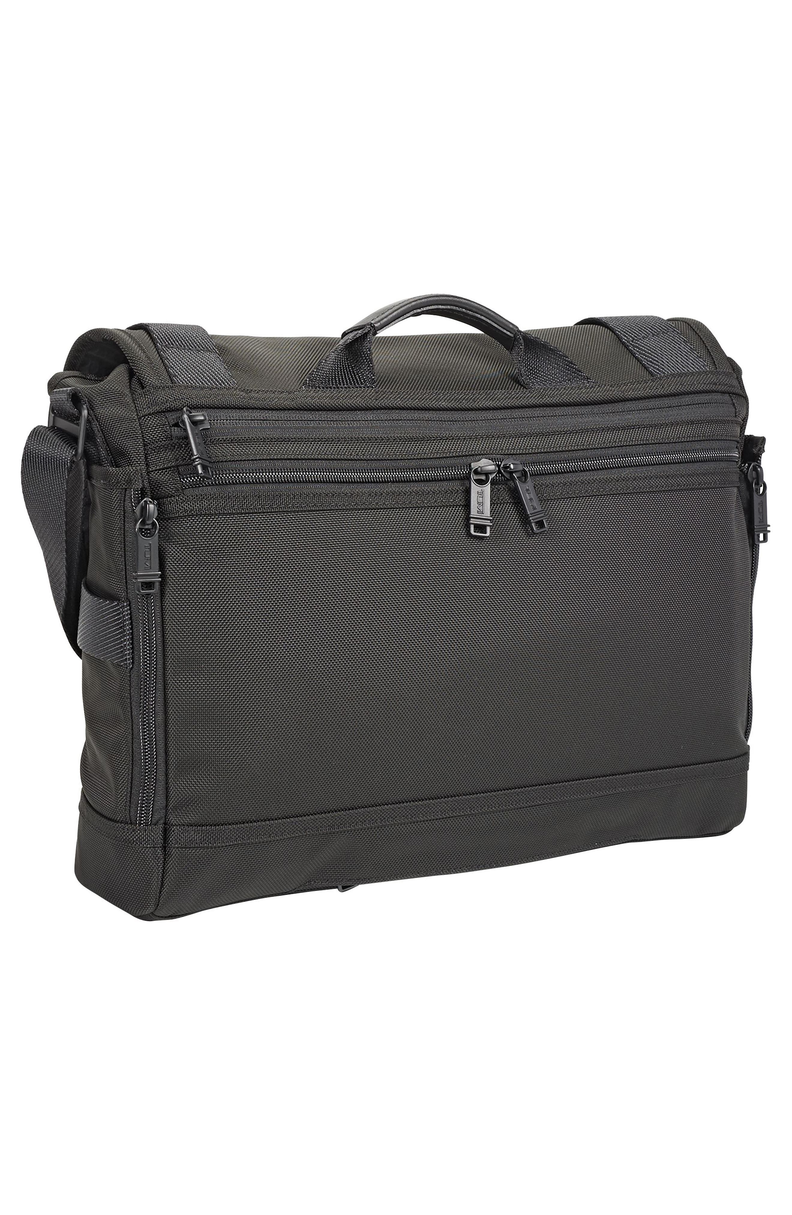 Alpha Bravo - Fallon Messenger Bag,                             Alternate thumbnail 4, color,                             Black