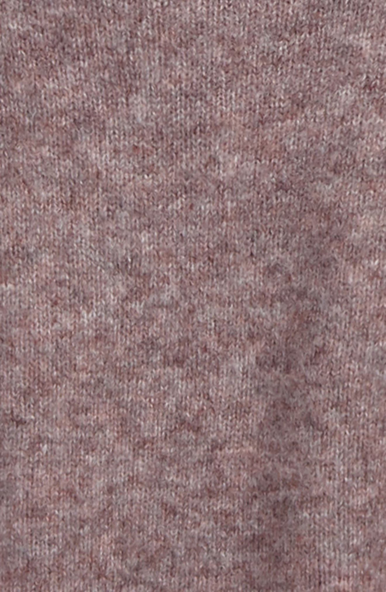 Crop Bubble Sleeve Sweater,                             Alternate thumbnail 2, color,                             Pink Heather