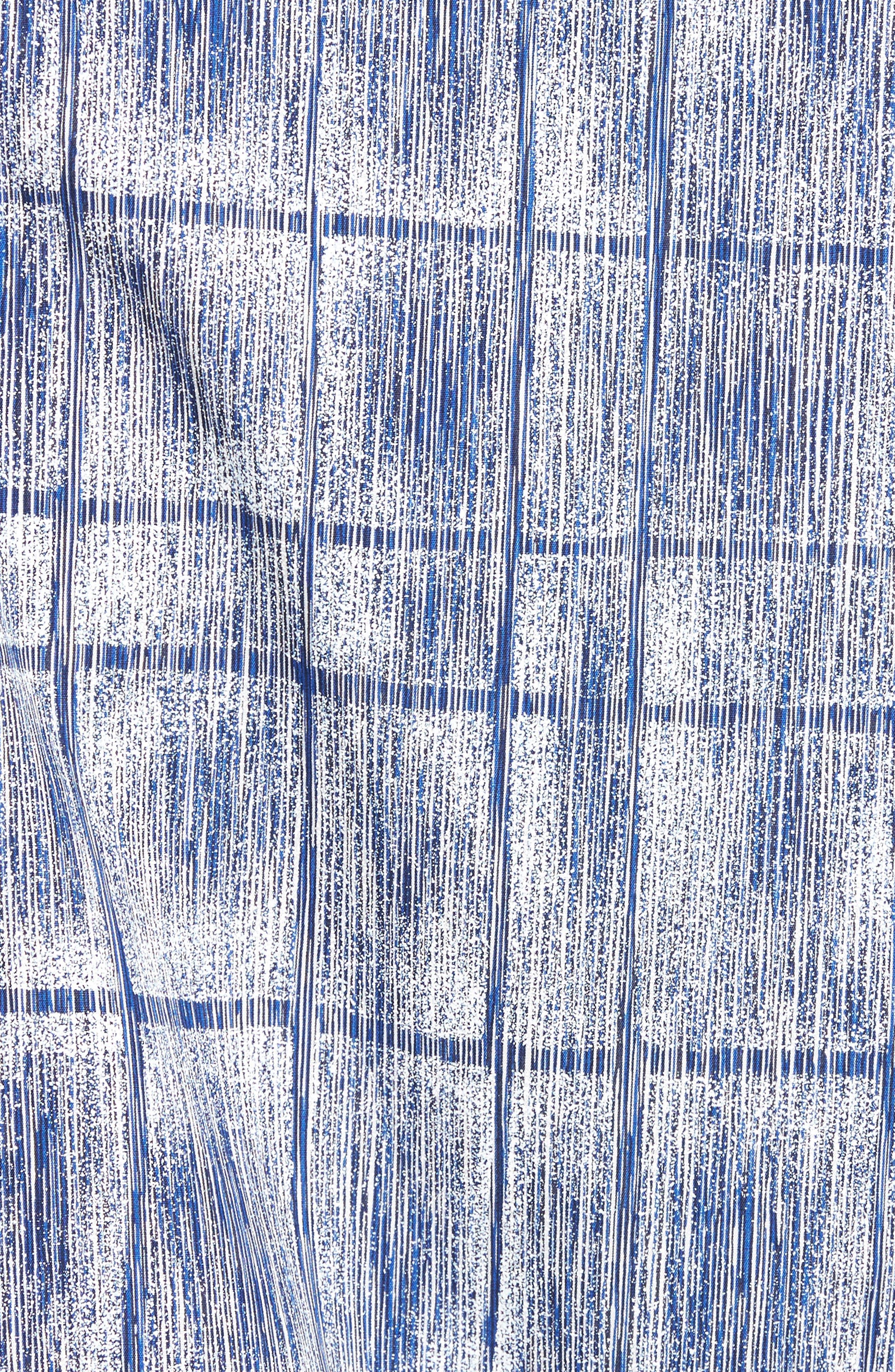 Classic Fit Print Sport Shirt,                             Alternate thumbnail 5, color,                             Cobalt