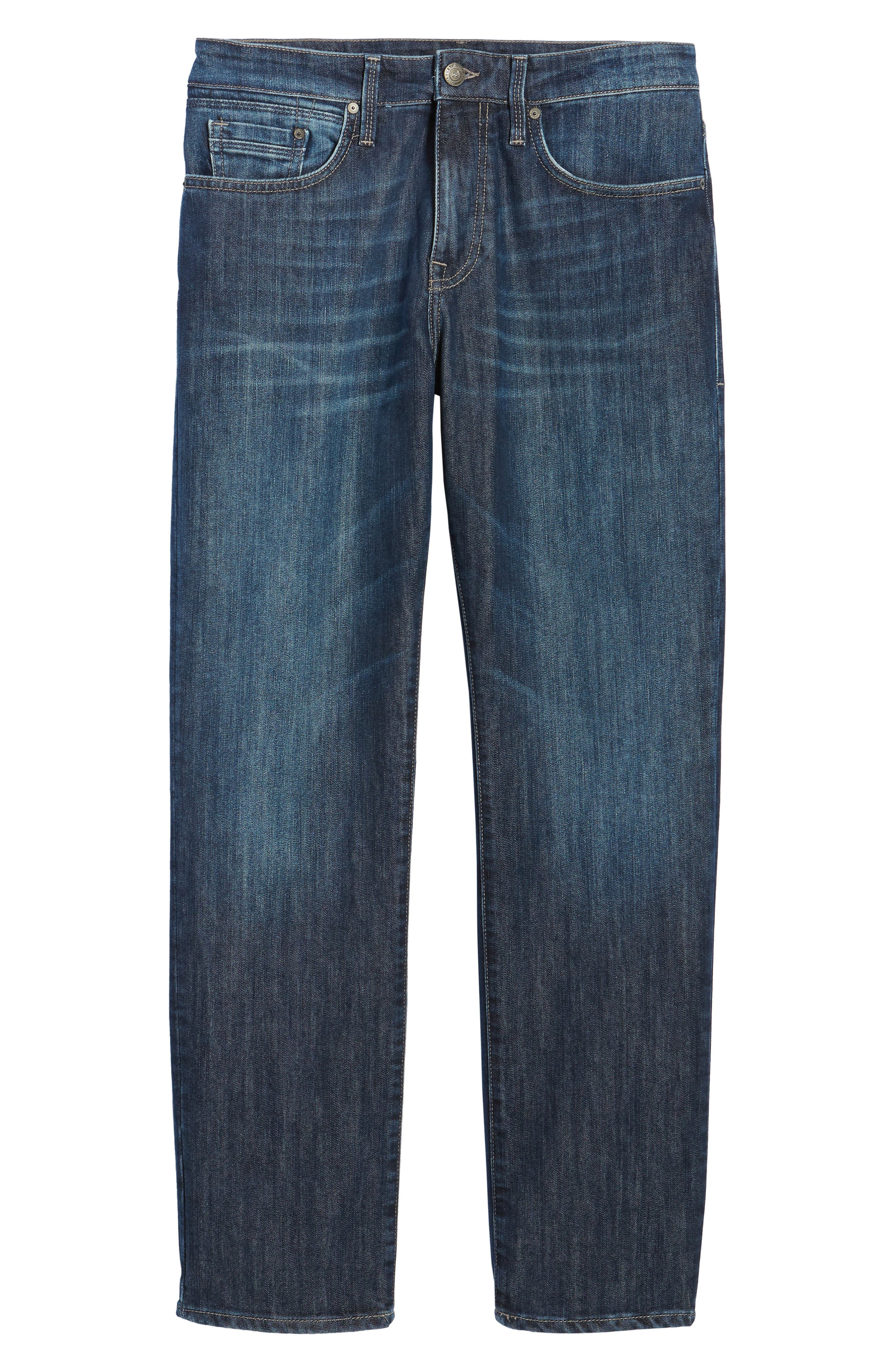 Myles Straight Leg Jeans,                             Alternate thumbnail 6, color,                             Deep Brushed Stanford
