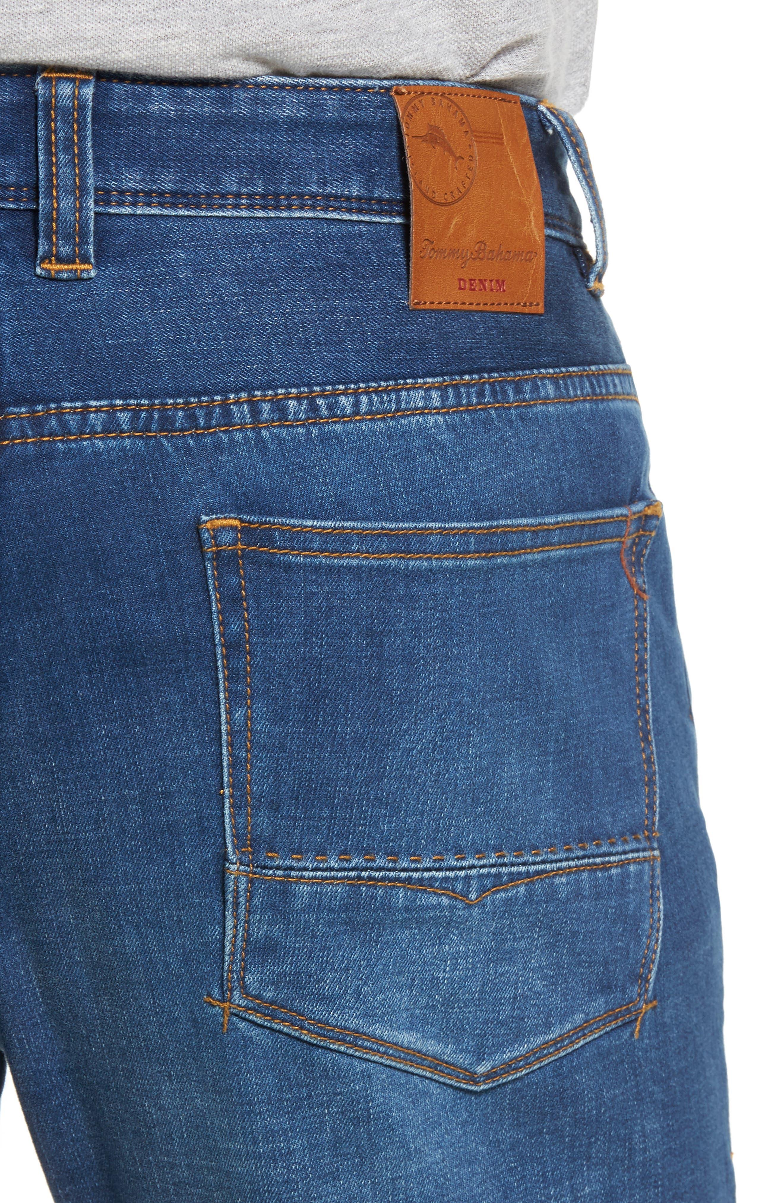 Caicos Authentic Fit Jeans,                             Alternate thumbnail 4, color,                             Medium Indigo