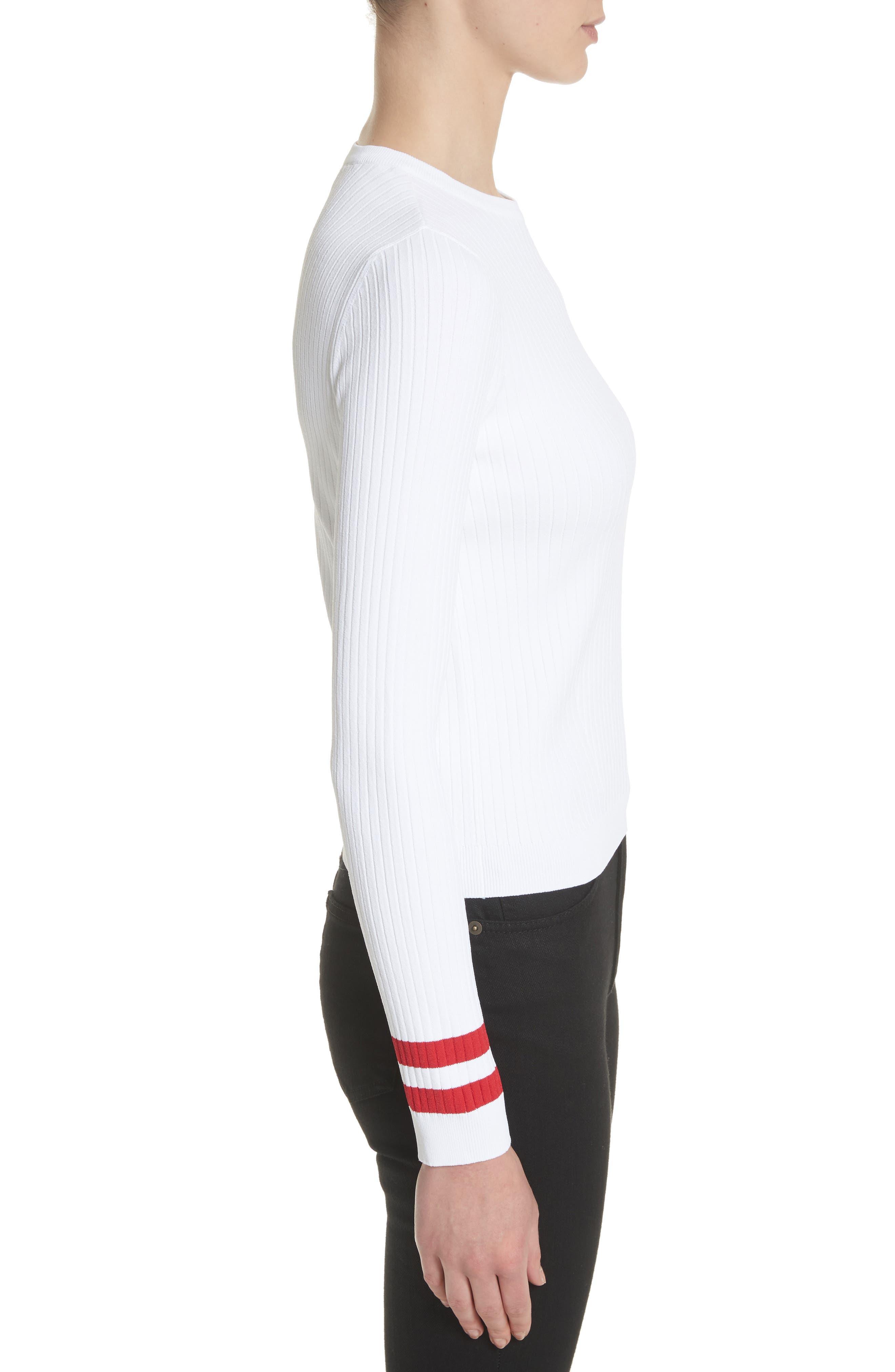 Alternate Image 3  - Valentino Logo Sleeve Knit Top